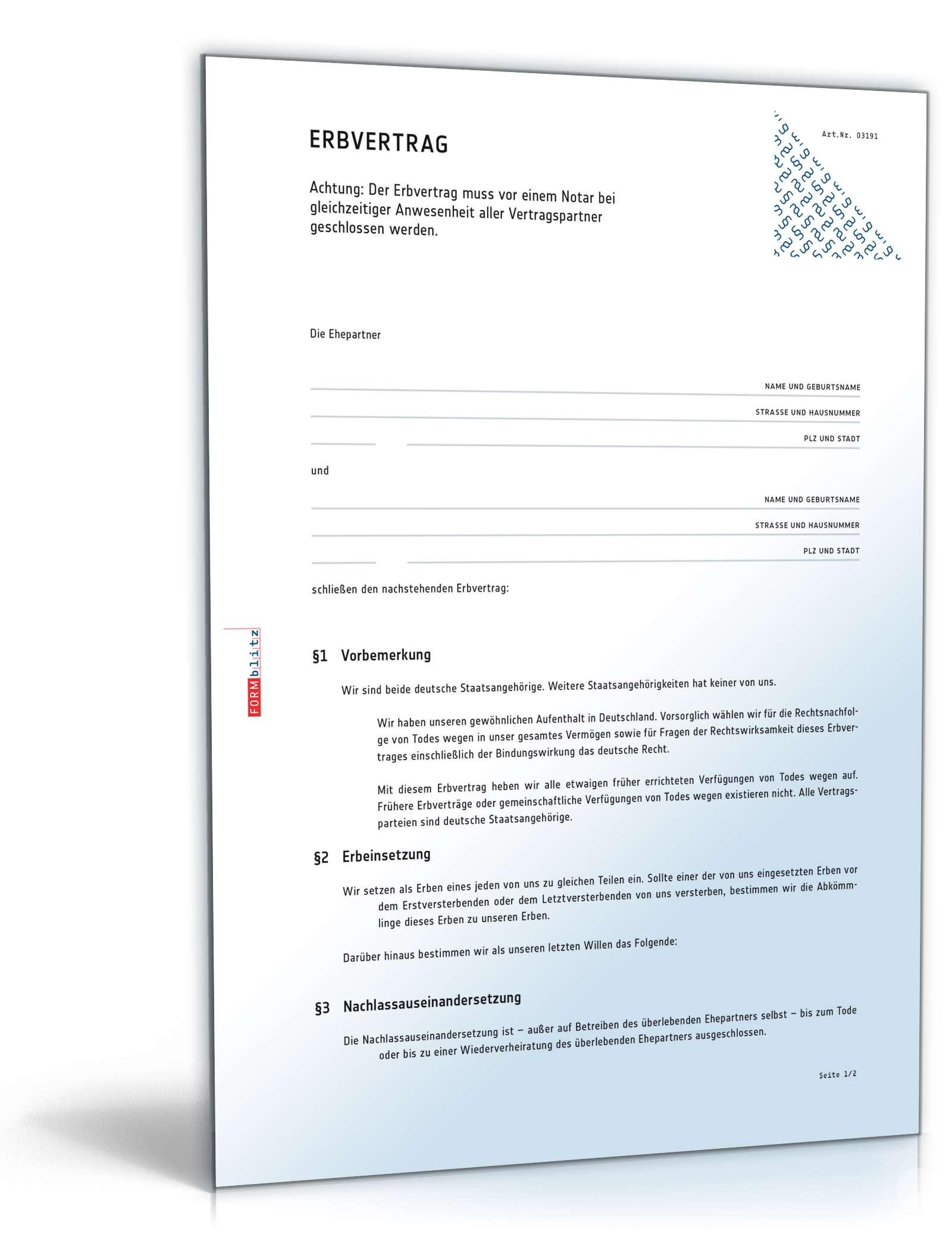 Musterbriefe Notar : Gemeinschaftliches testament wiederverheiratungsklausel