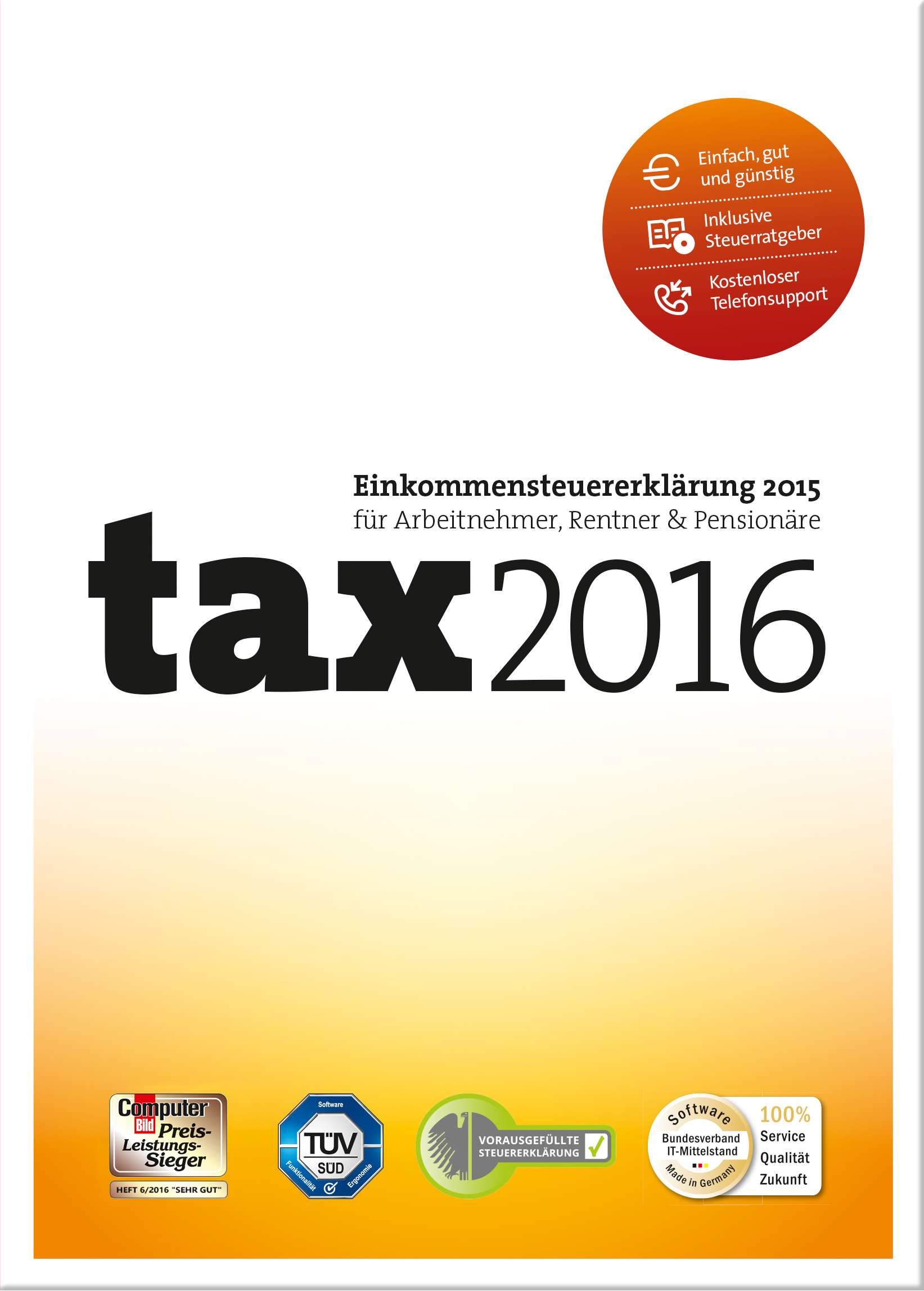 tax 2015 | Steuersoftware zum Download | Top-Preis!