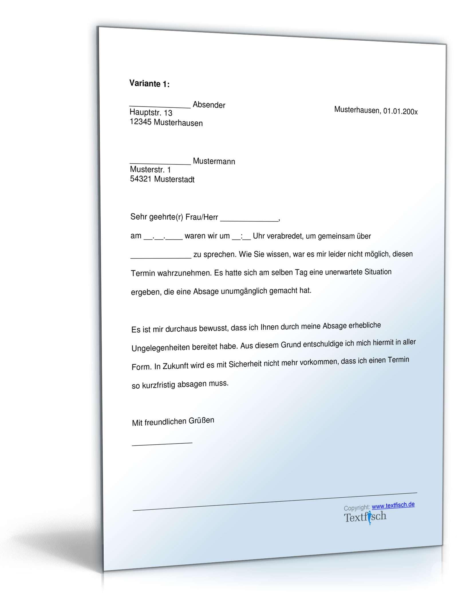 Musterbriefe Entschuldigungsschreiben Geschäftlich : Entschuldigung nicht eingehaltener termin muster zum
