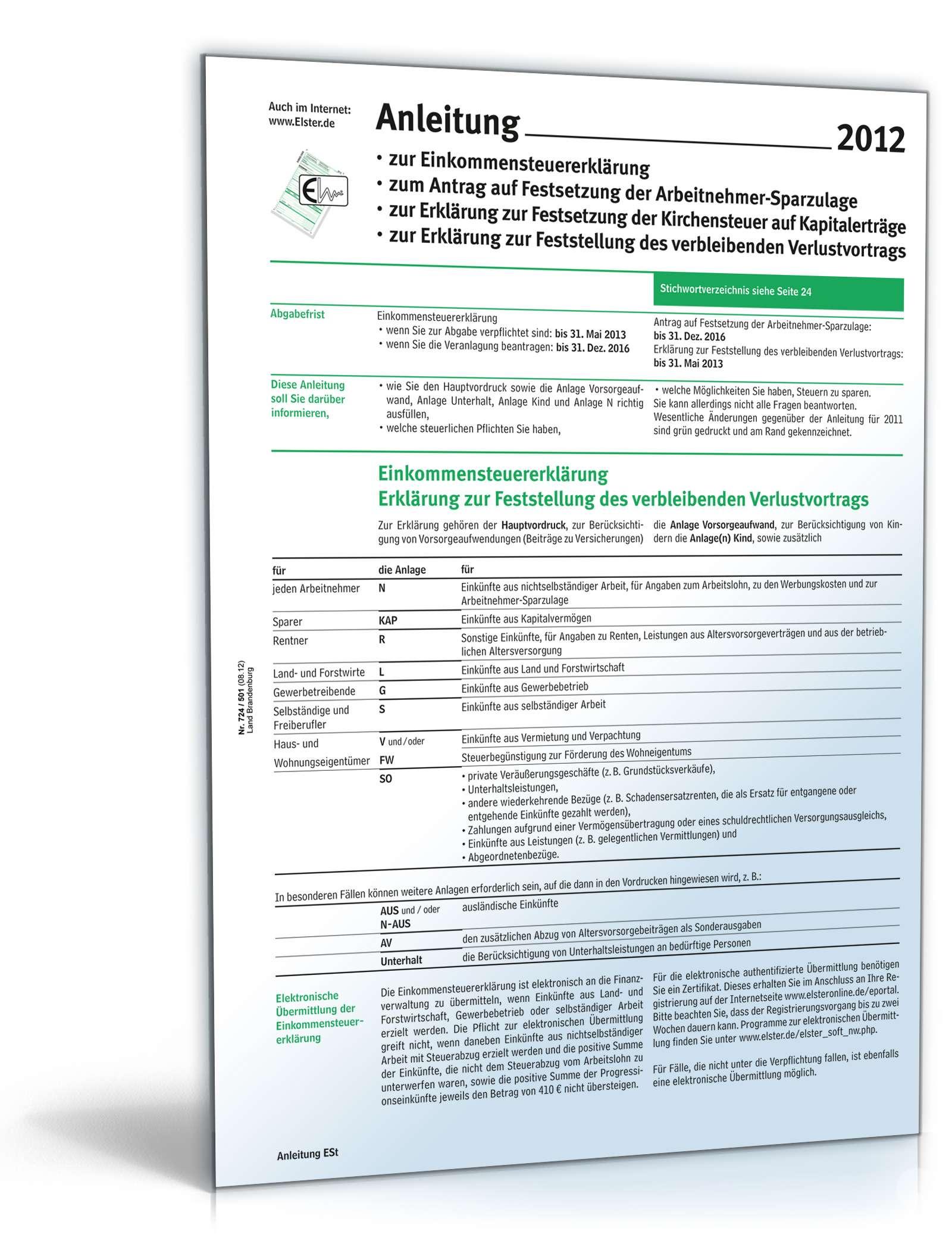 Smartsteuer Musterbriefe : Anleitung zur einkommensteuererklärung formular zum