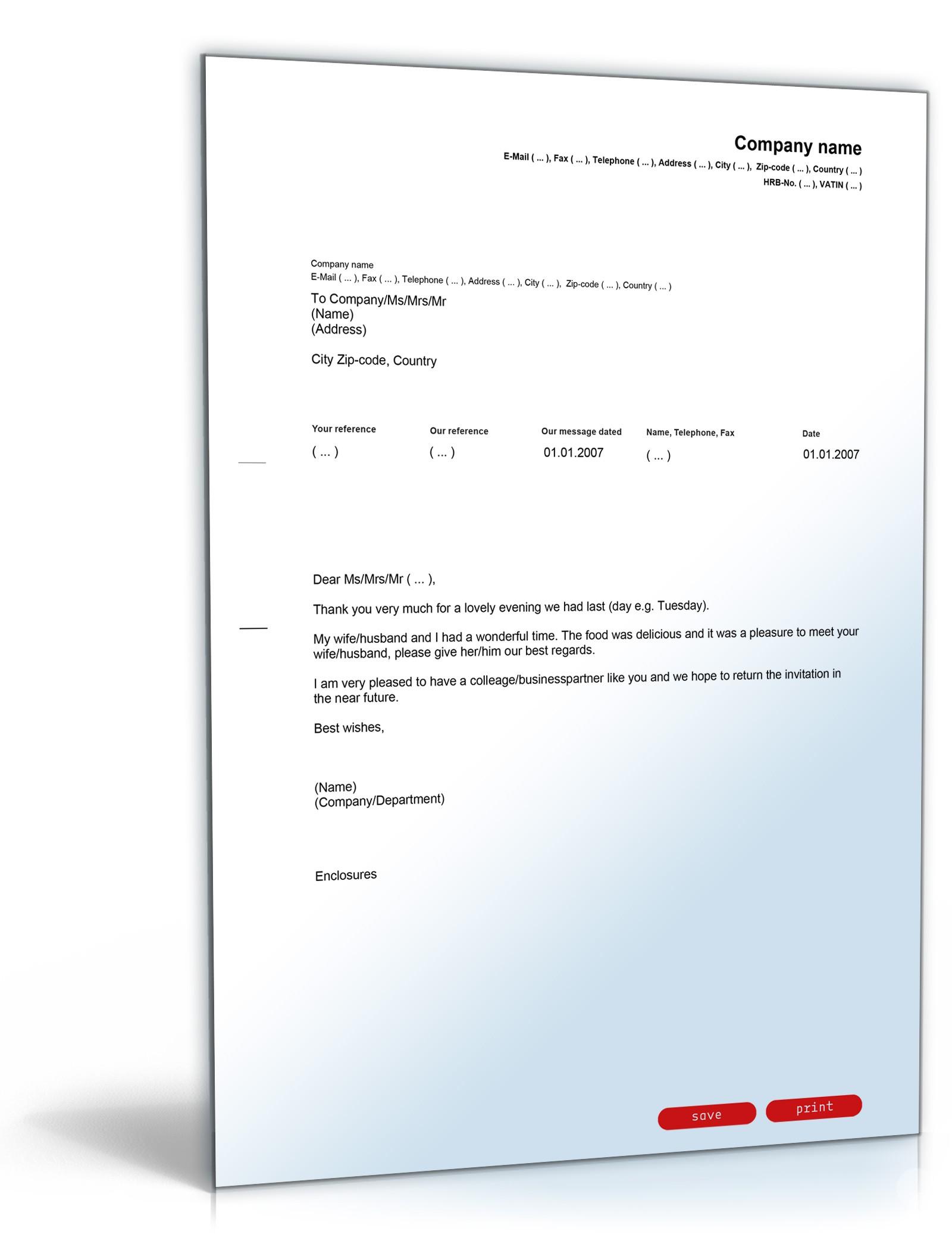 Musterbriefe Waf : Danksagung einladung vorlage zum download