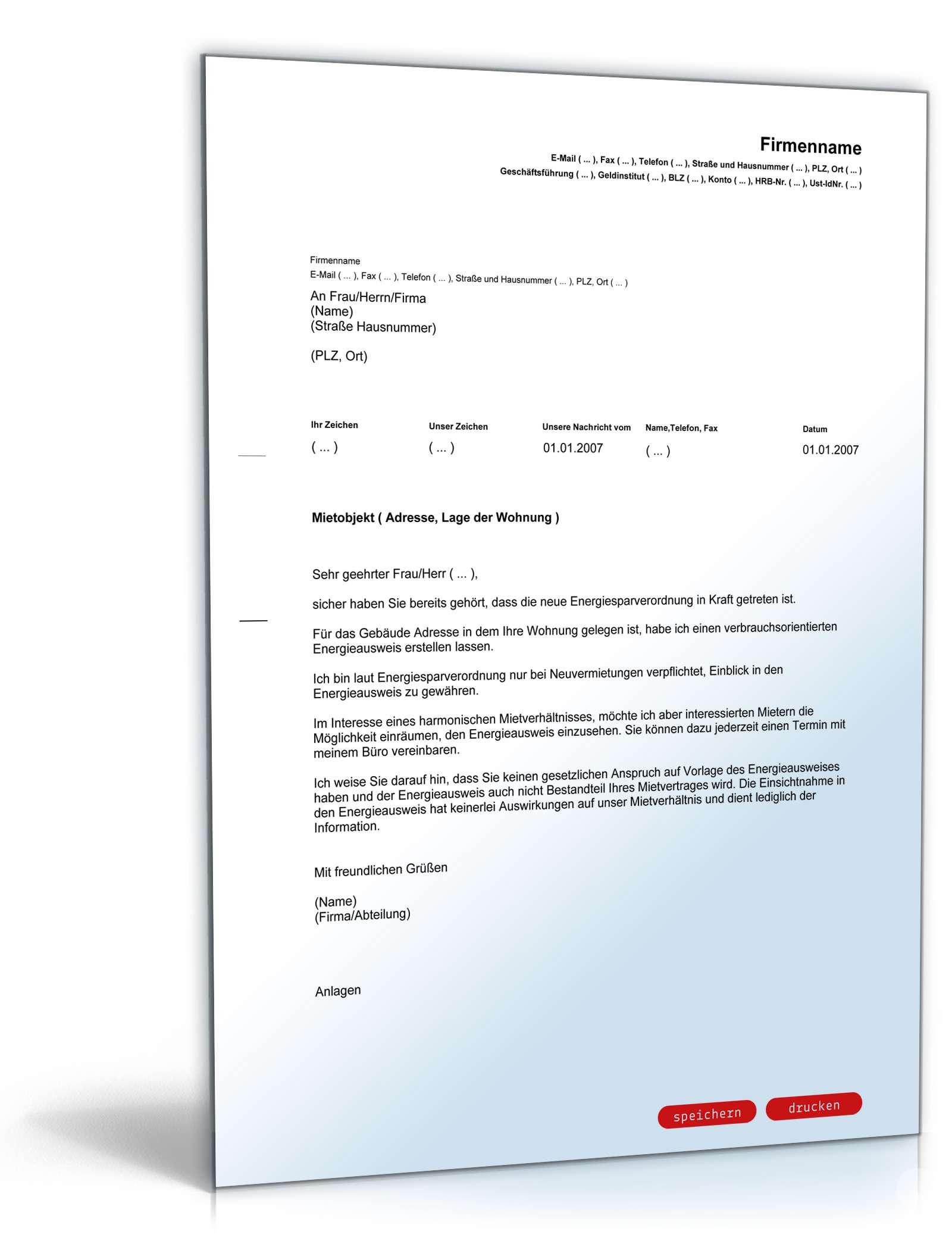 informationsauskunft energieausweis vorlage zum download. Black Bedroom Furniture Sets. Home Design Ideas