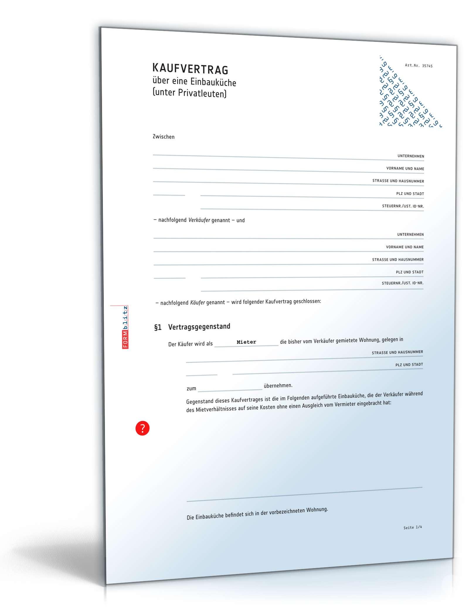 Vorlage Kaufvertrag Küche : kaufvertrag k che rechtssicheres muster zum download ~ Watch28wear.com Haus und Dekorationen
