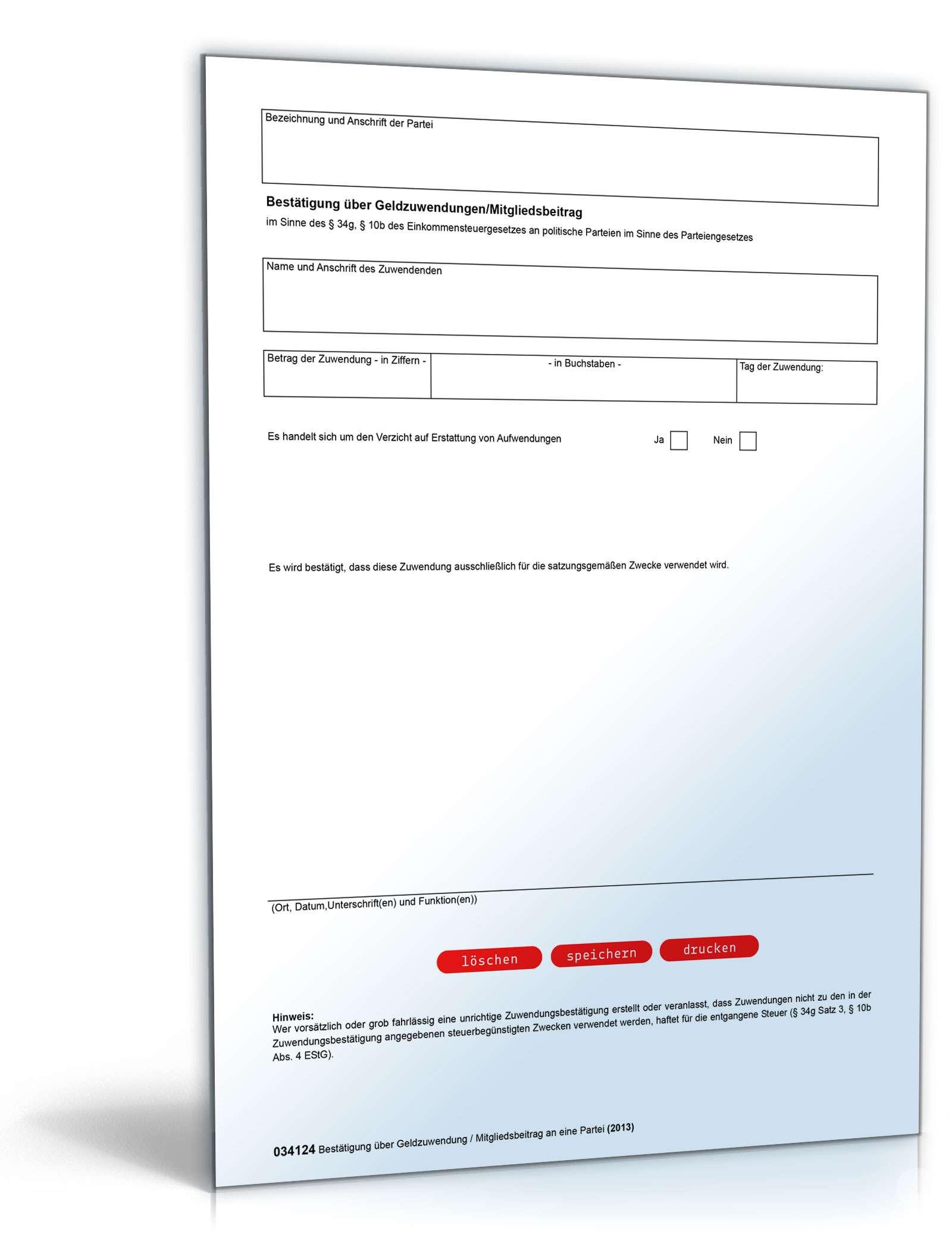 spendenbescheinigung formular zum download. Black Bedroom Furniture Sets. Home Design Ideas