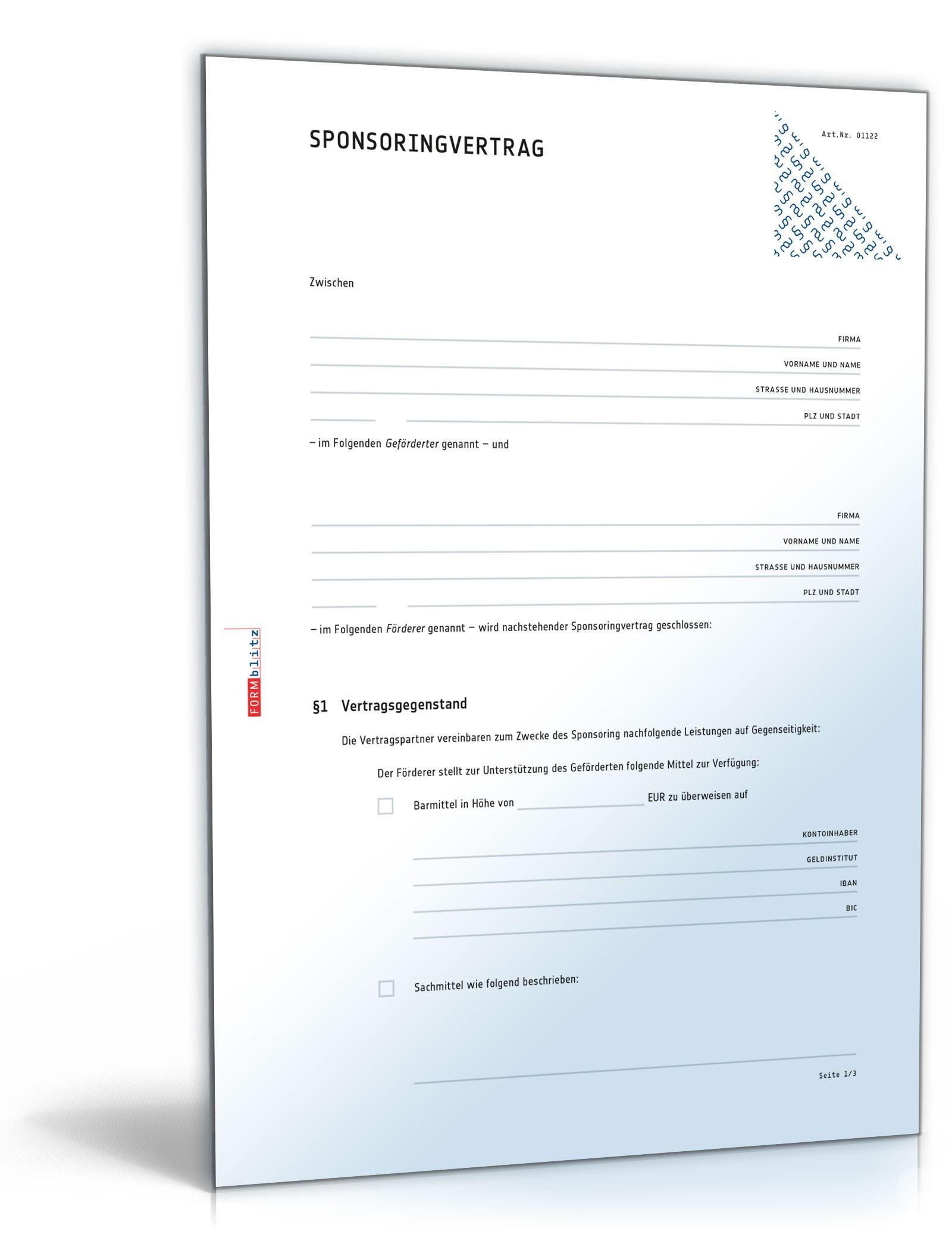 Kunstlervertrag Entwurf Pdf Kostenfreier Download