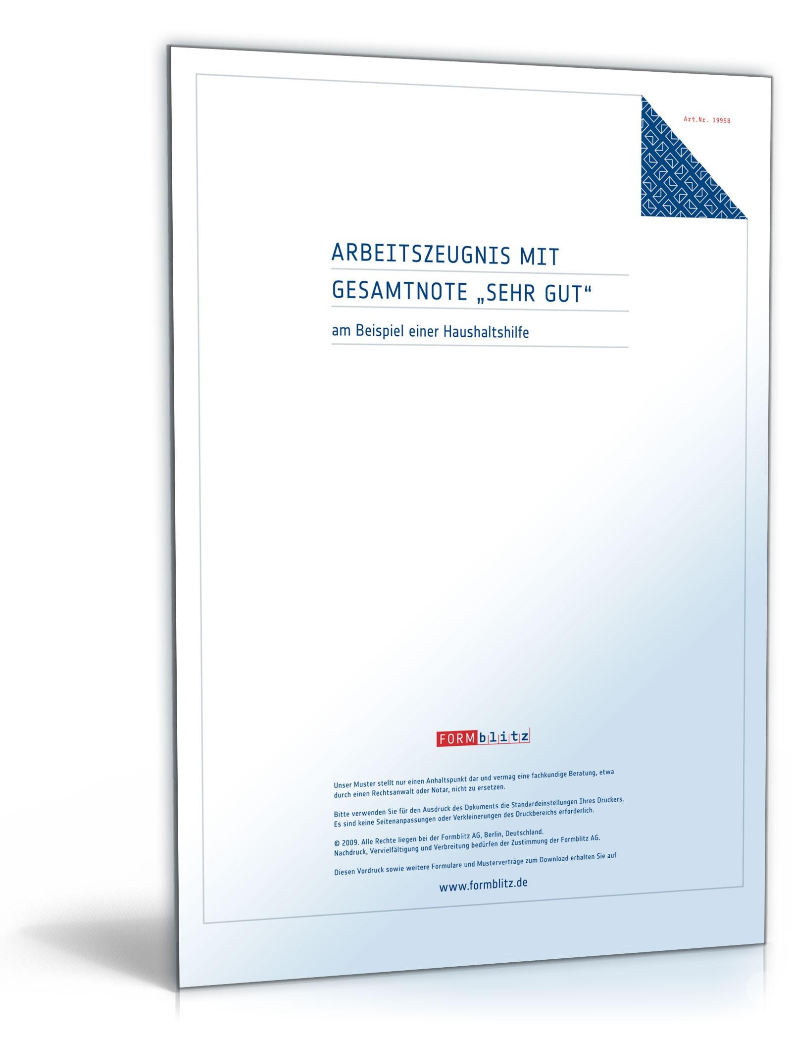 Arbeitszeugnis Haushaltshilfe: Rechtssichere Muster