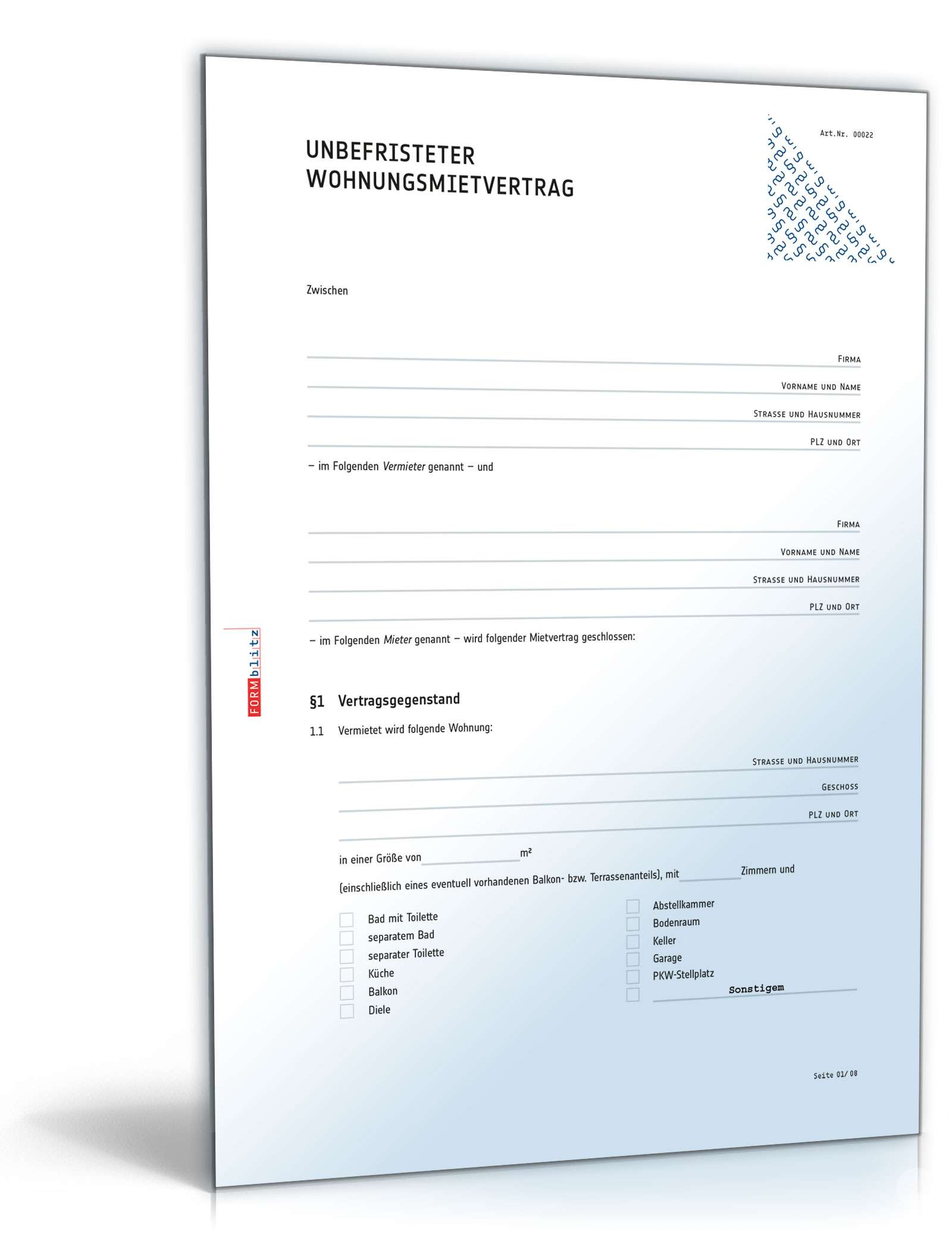 Wohnungsmietvertrag Muster Standardmietvertrag Zum Download