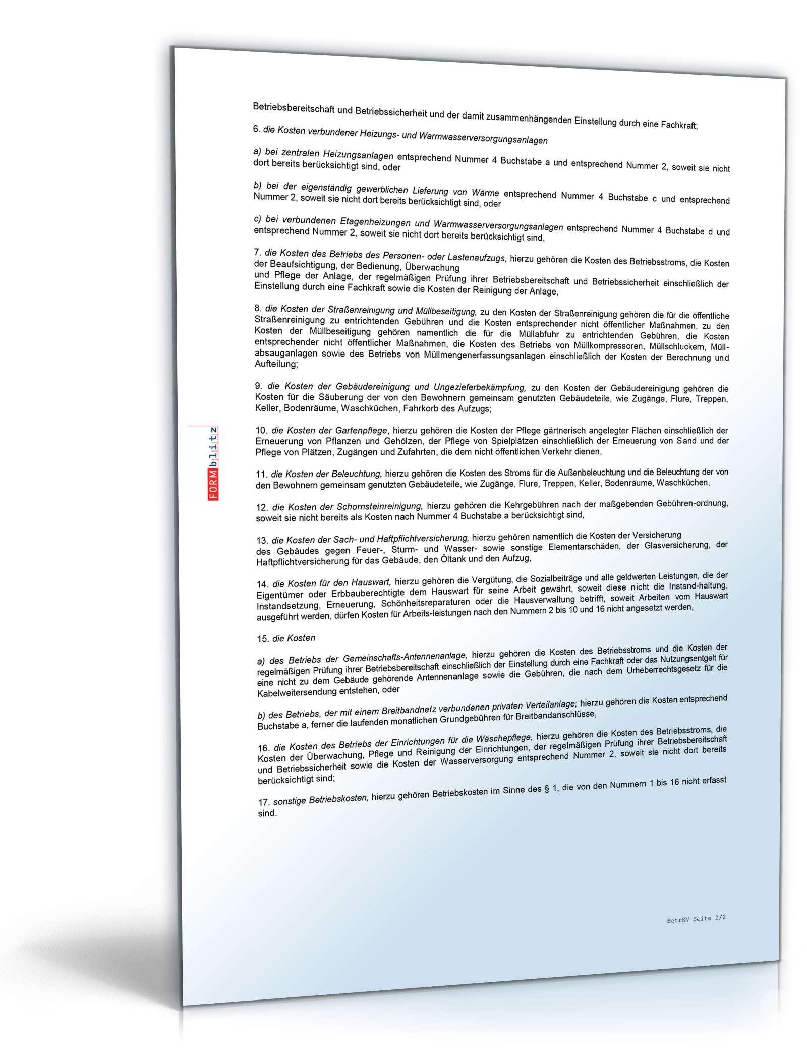 Mietvertrag Einfamilienhaus Muster als PDF & DOC en