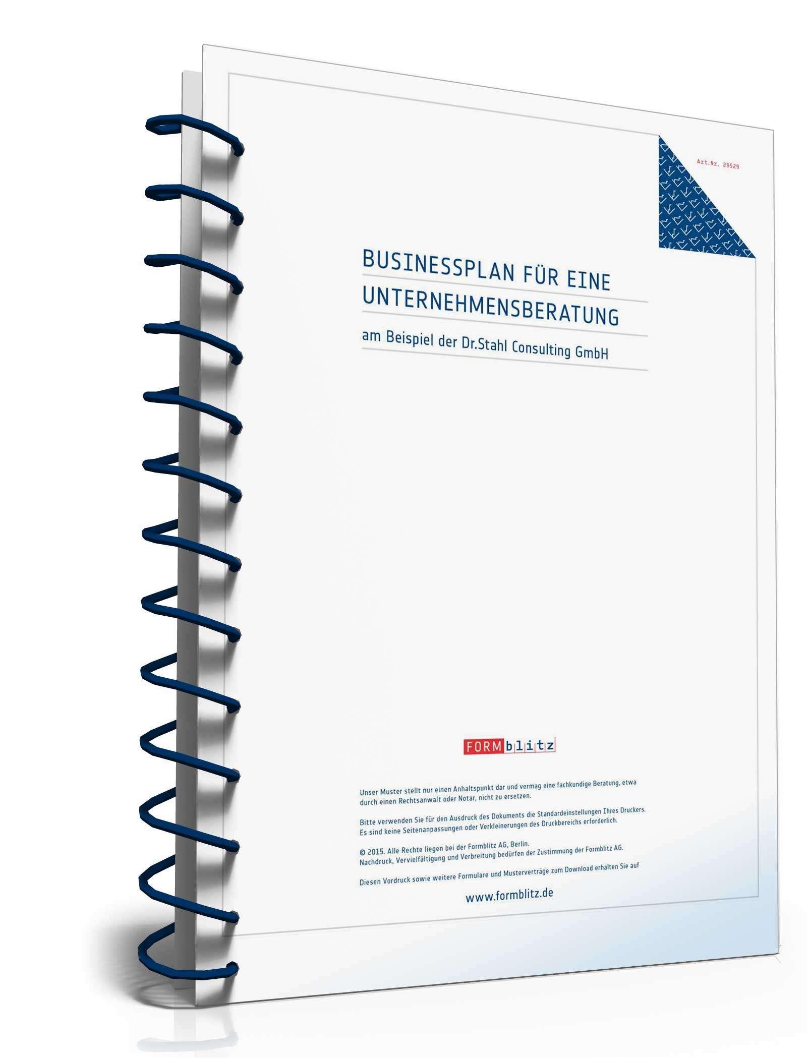 Geliebte Businessplan Unternehmensberatung | Muster zum Download #DQ_88