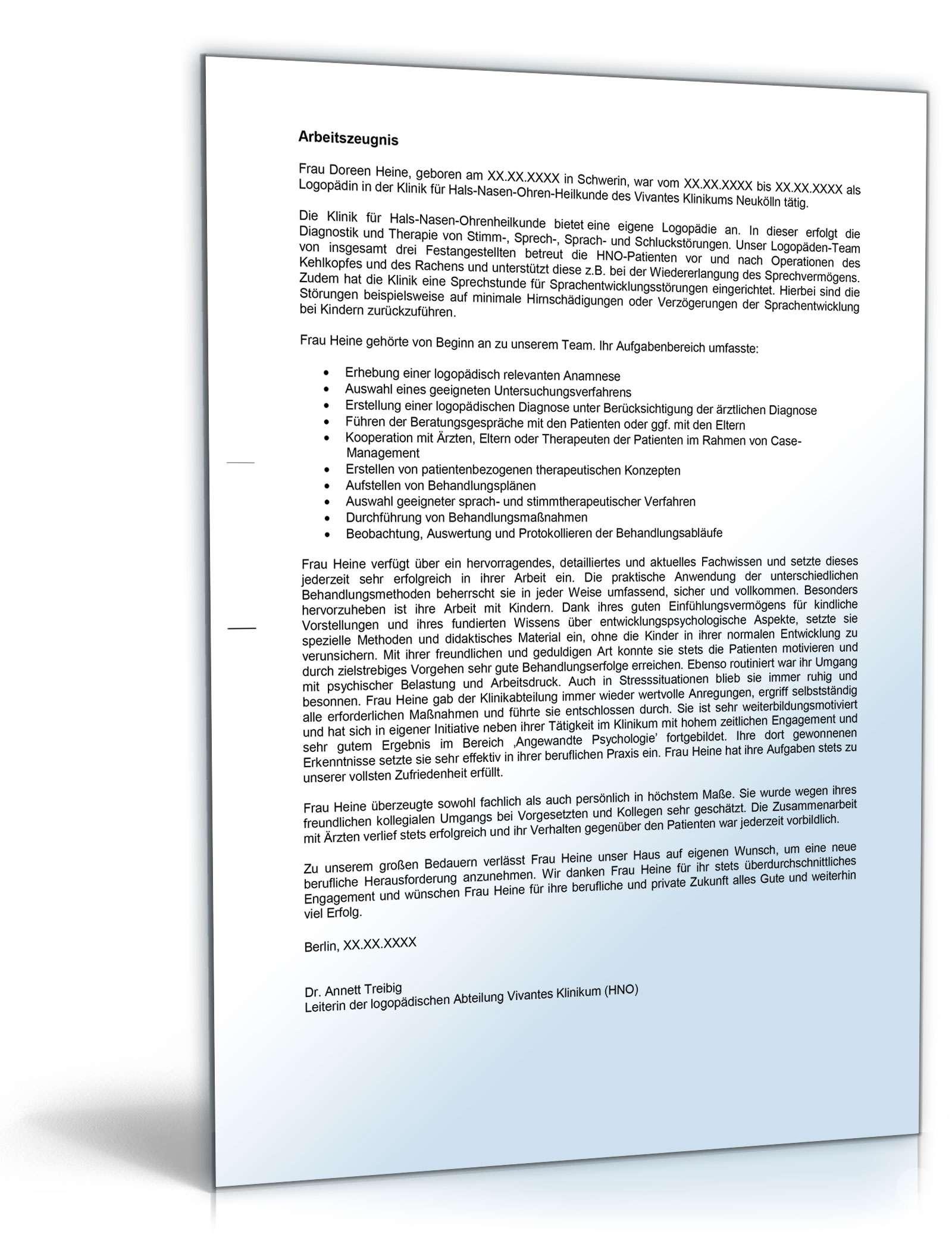 zeugnis note 1 seite 02 - Praktikumsbeurteilung Muster