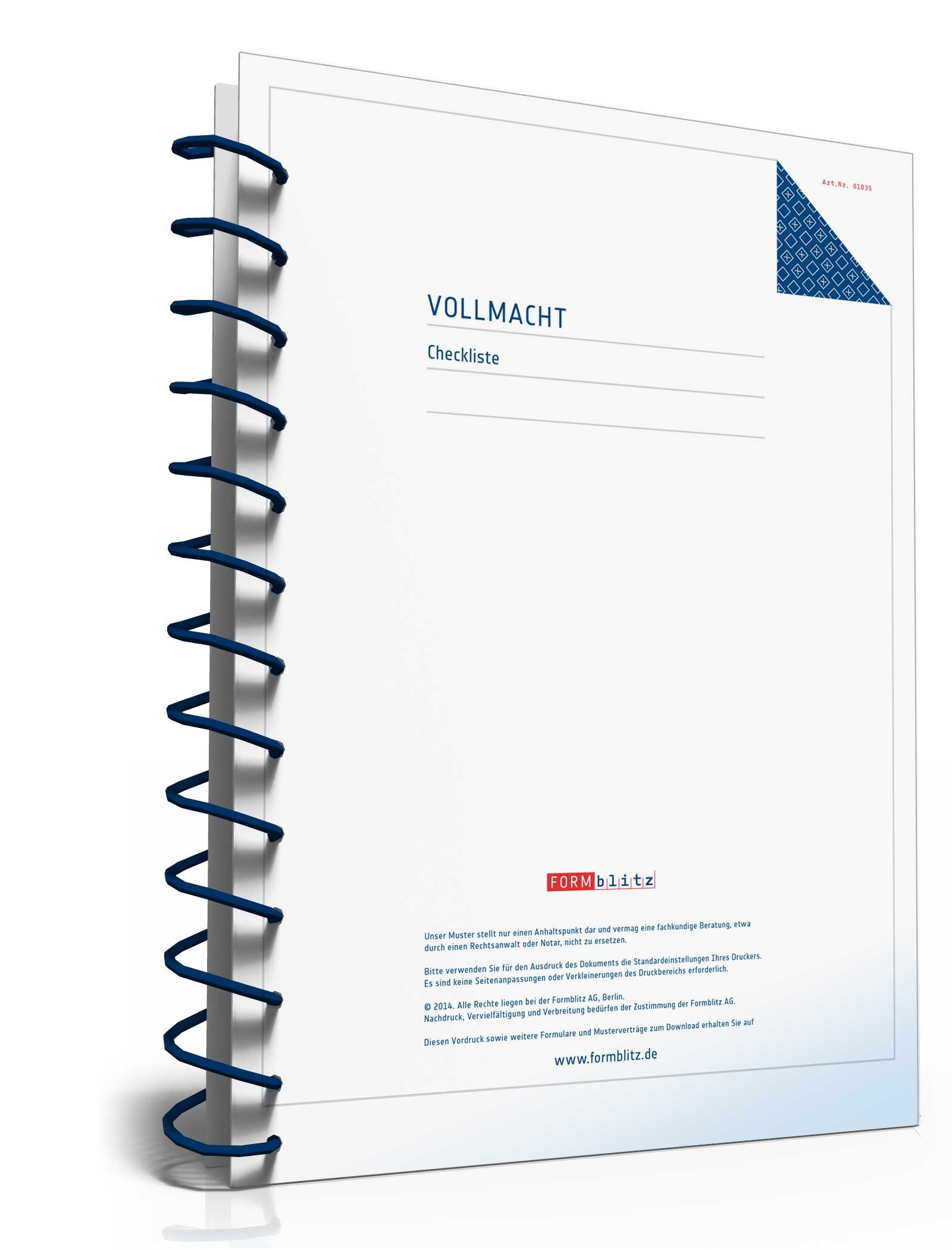 Checkliste Vollmacht Formular Zum Download