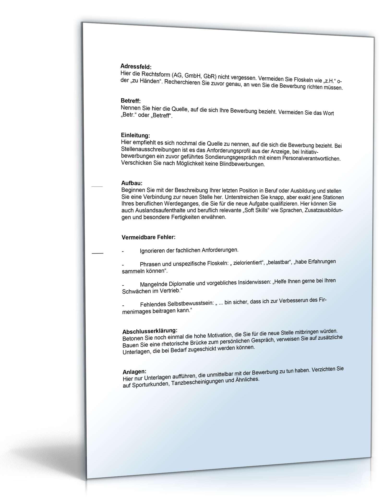 bewerbungs paket filialleiter muster zum download. Black Bedroom Furniture Sets. Home Design Ideas