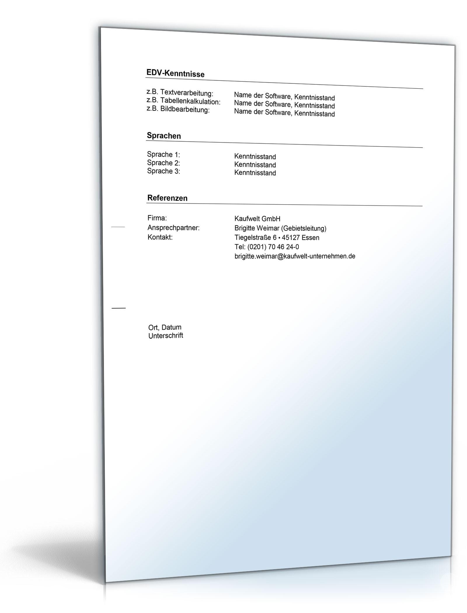 Bewerbungs-Paket Filialleiter   Muster zum Download