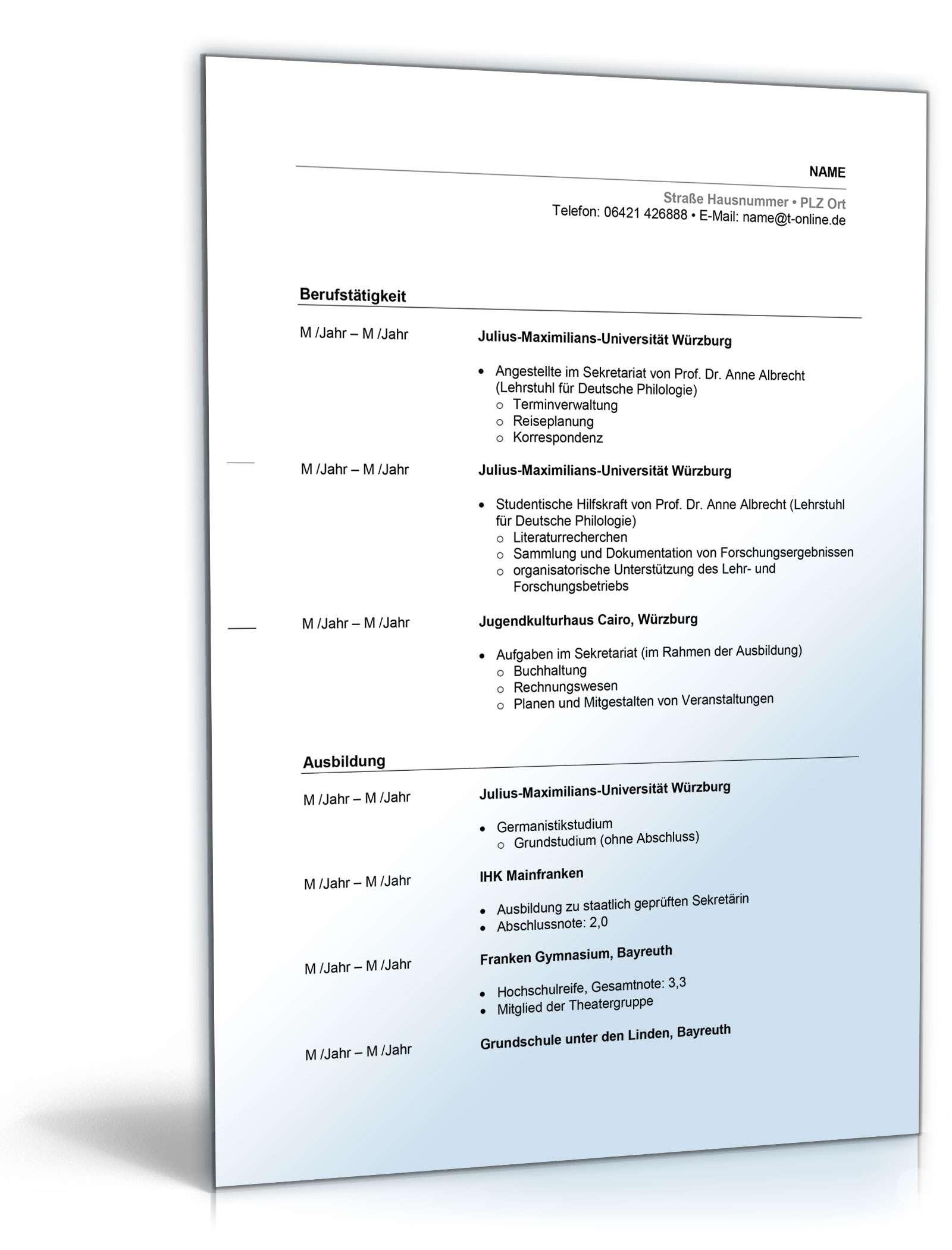 Wunderbar Kellnerin Aufgaben Im Lebenslauf Ideen - Entry Level ...
