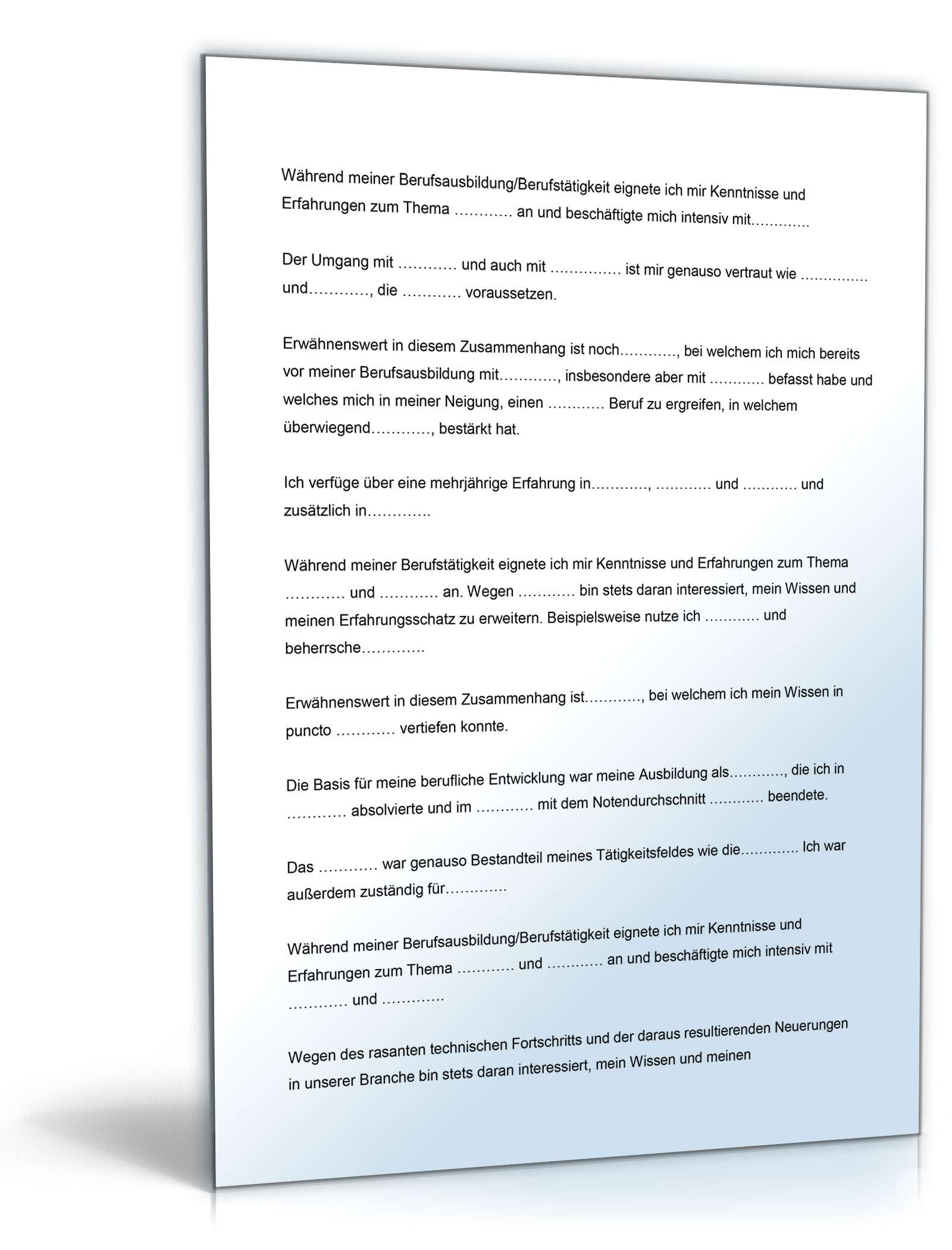 bewerbungs-paket kellner | muster zum download, Einladung