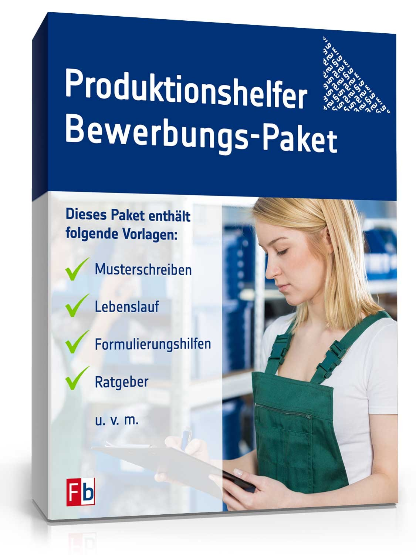 Bewerbungs Paket Produktionshelfer Muster Zum Download