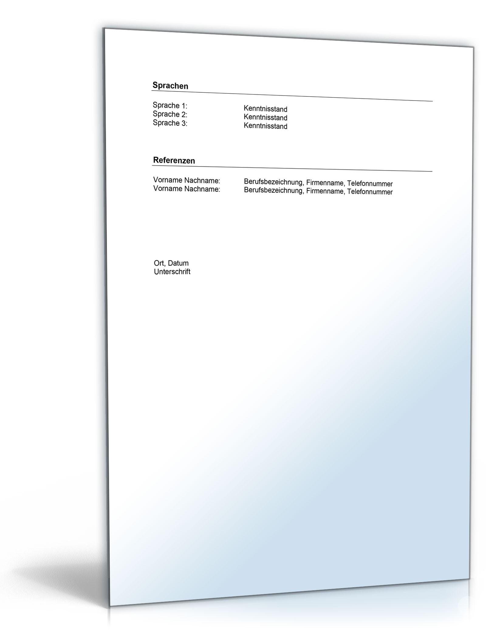 Famous Persönliche Referenz Briefvorlage Pattern - FORTSETZUNG ...