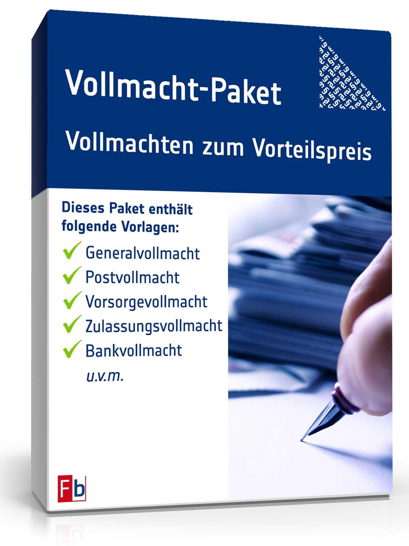 Vollmacht Paket 13 Vollmachten Als Pdf Word Zum Download