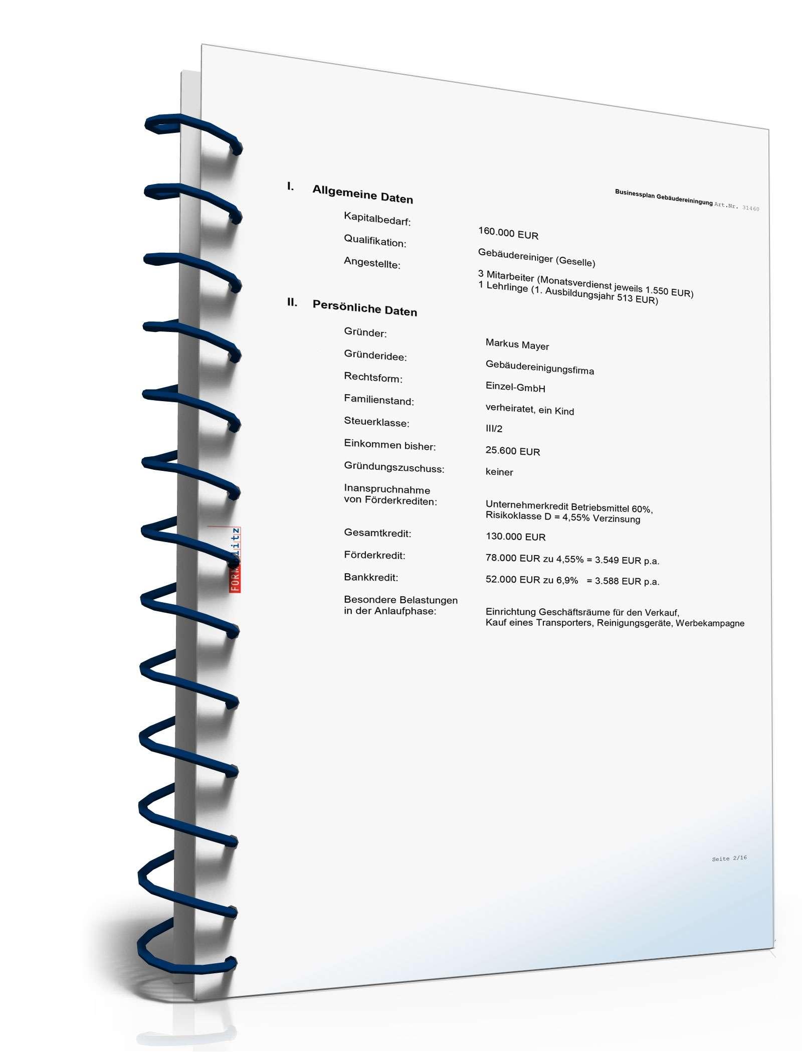 Businessplan Gebäudereinigung Muster Zum Download