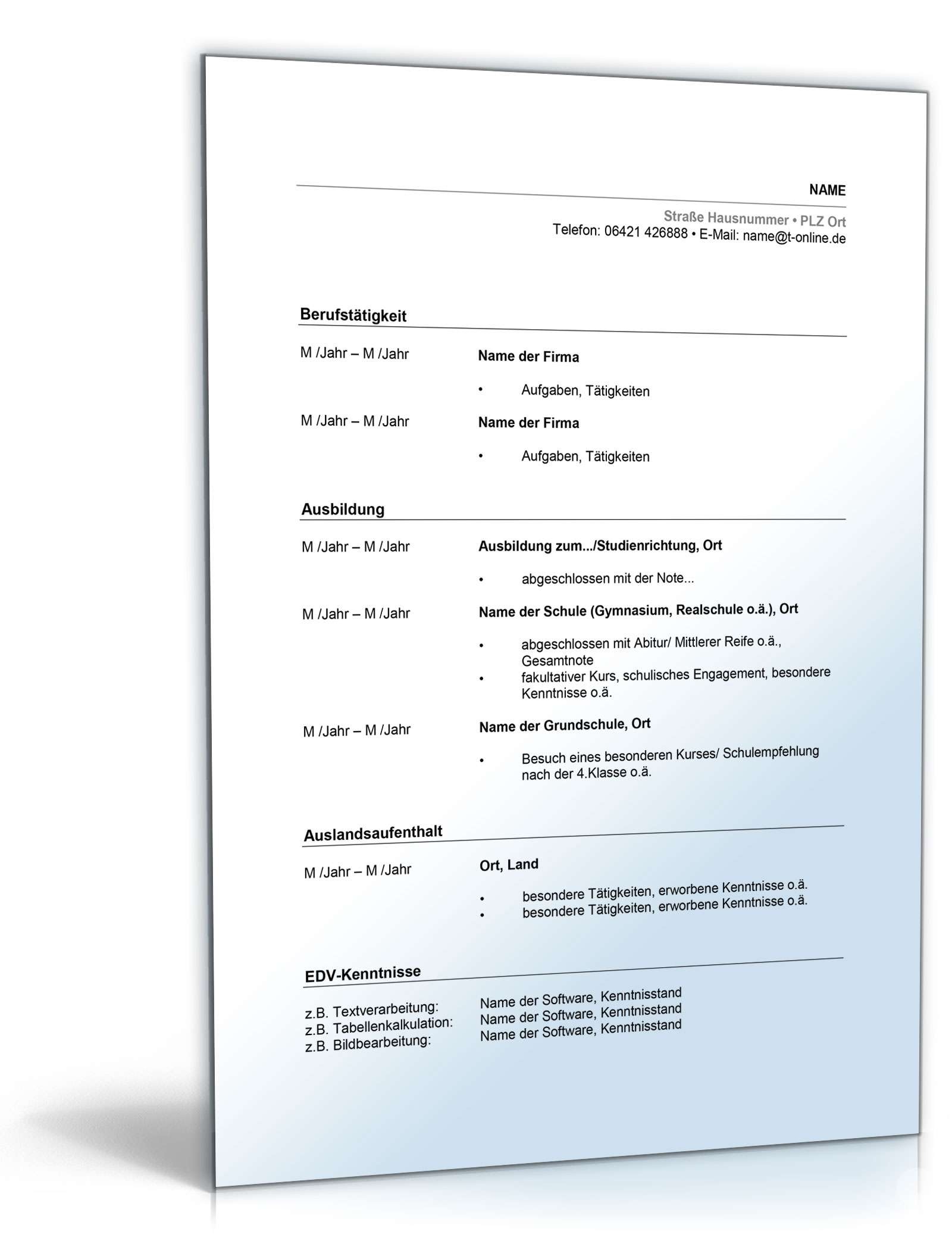 Nett Arzt Lebenslauf Format Doc Bilder - Entry Level Resume Vorlagen ...