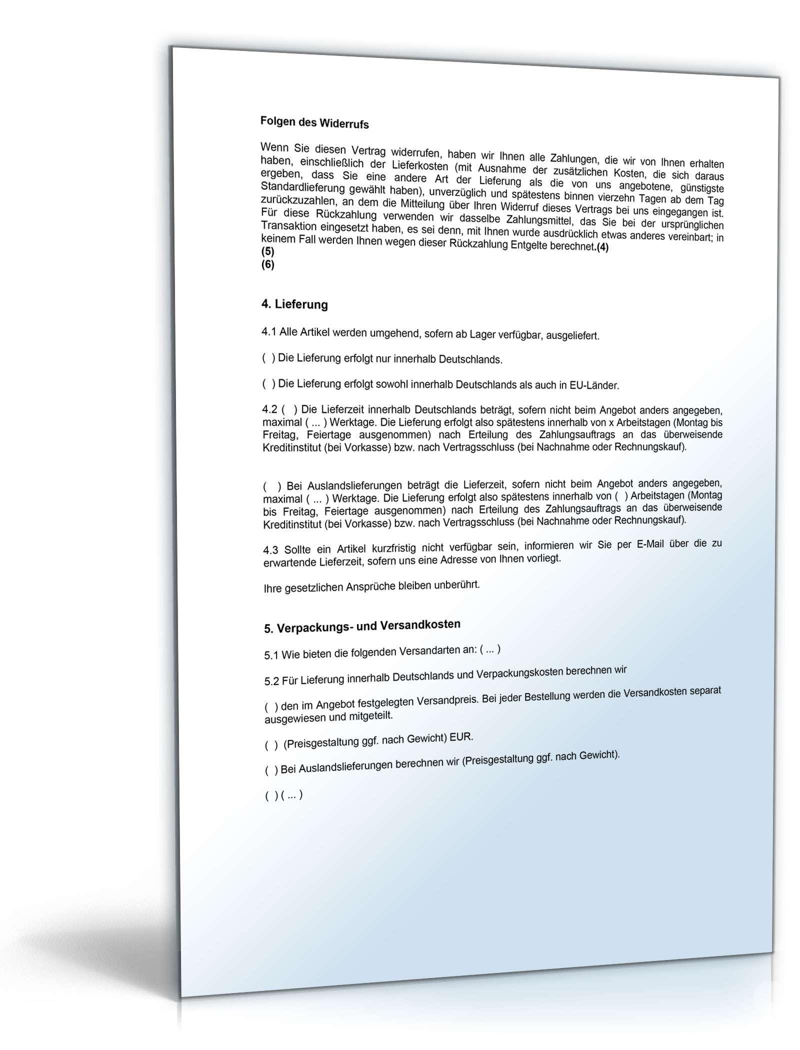 Agb Online Shop B2c Rechtssicheres Muster Zum Download