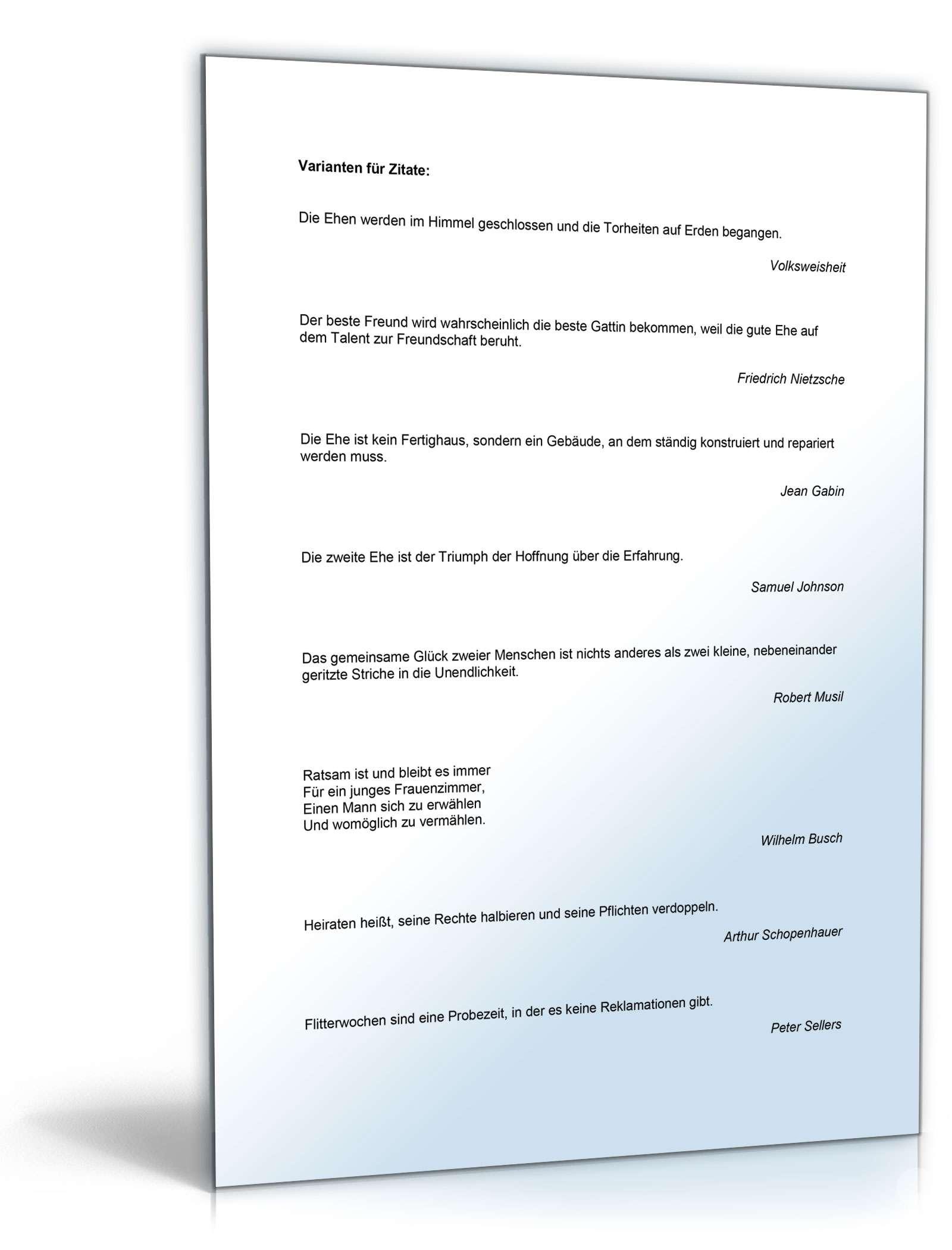 Hochzeits-Paket Glückwünsche | Muster zum Download