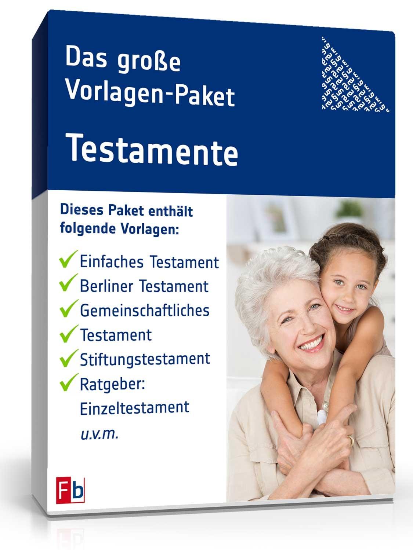 Vorlagen Für 10 Verschiedene Testamente Muster Zum Download