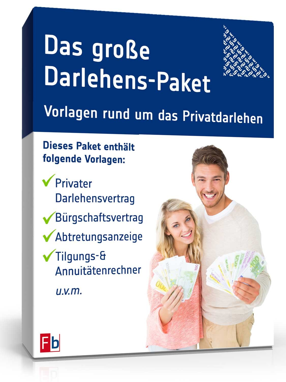 Das Große Darlehenspaket Privat Muster Vorlagen Zum Download