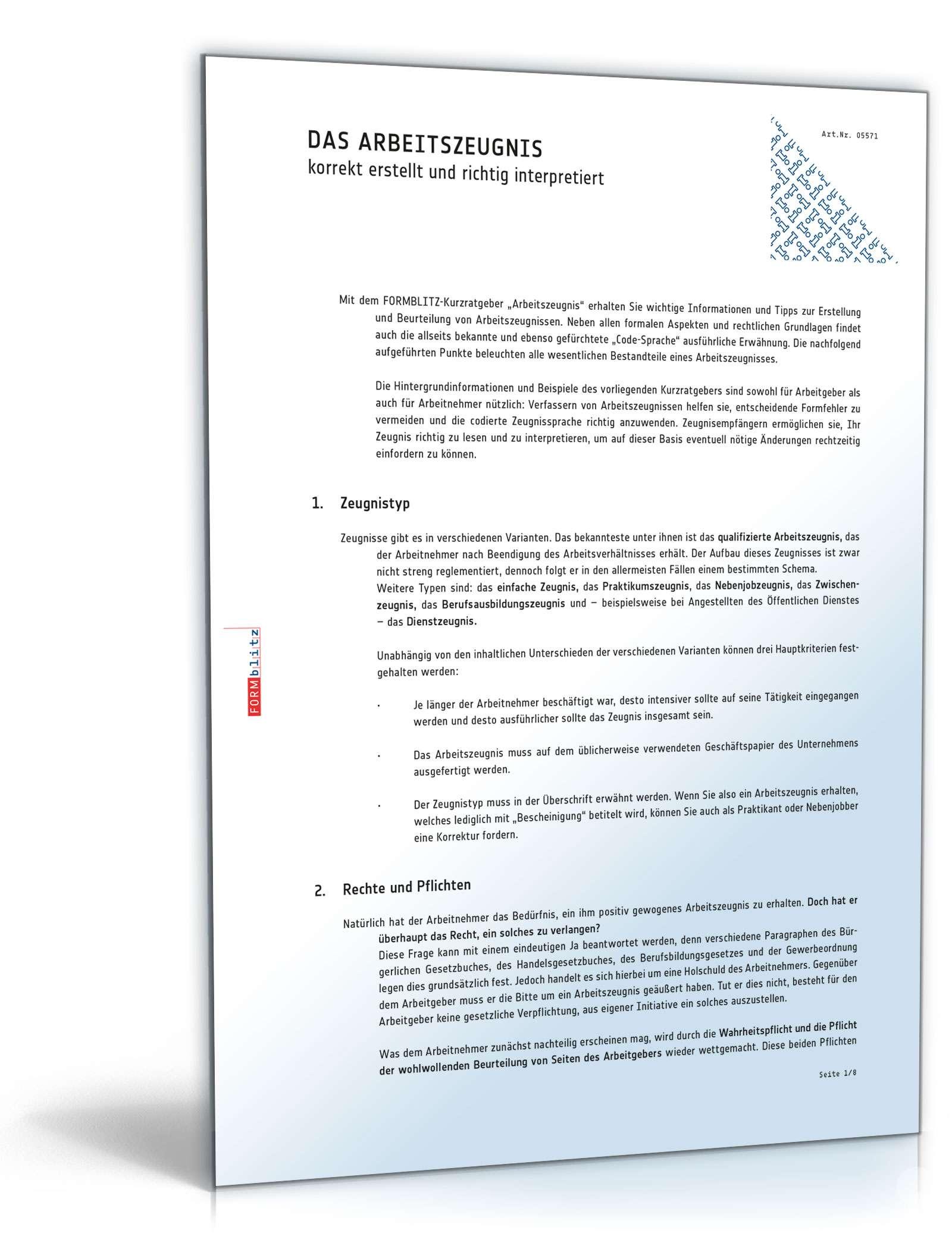 ratgeber arbeitszeugnis seite 02 - Muster Dankschreiben Fr Gute Zusammenarbeit