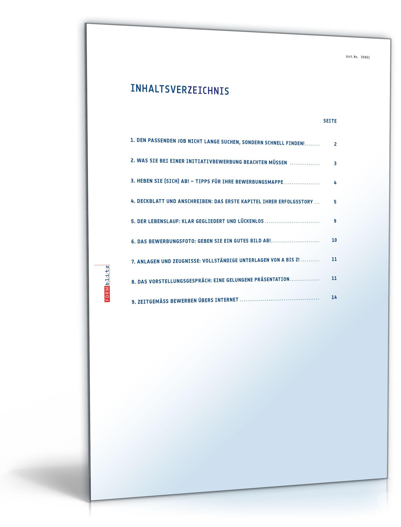 Bewerbungs-Paket Hauptschulabschluss Ausbildungsplatz