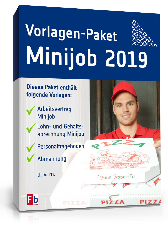 Vorlagen Paket Minijob Muster Für 450 Eur Job Zum Download