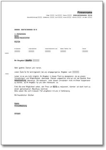 Absage Eines Angebots Wegen Zu Hohem Preis De Musterbrief Download