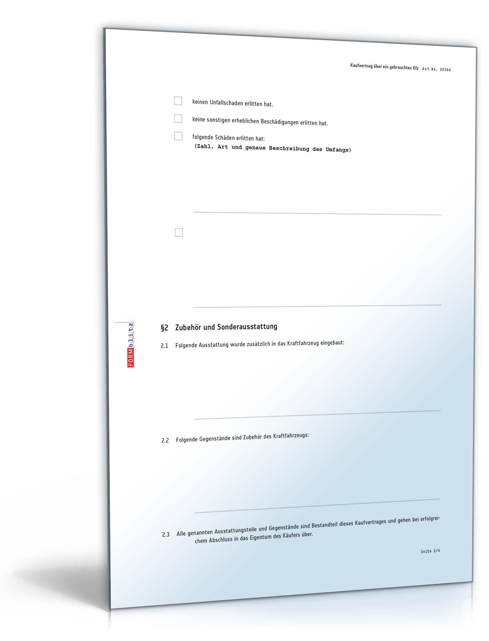 Kfz Kaufvertrag Privatverkauf Vorlage Zum Download