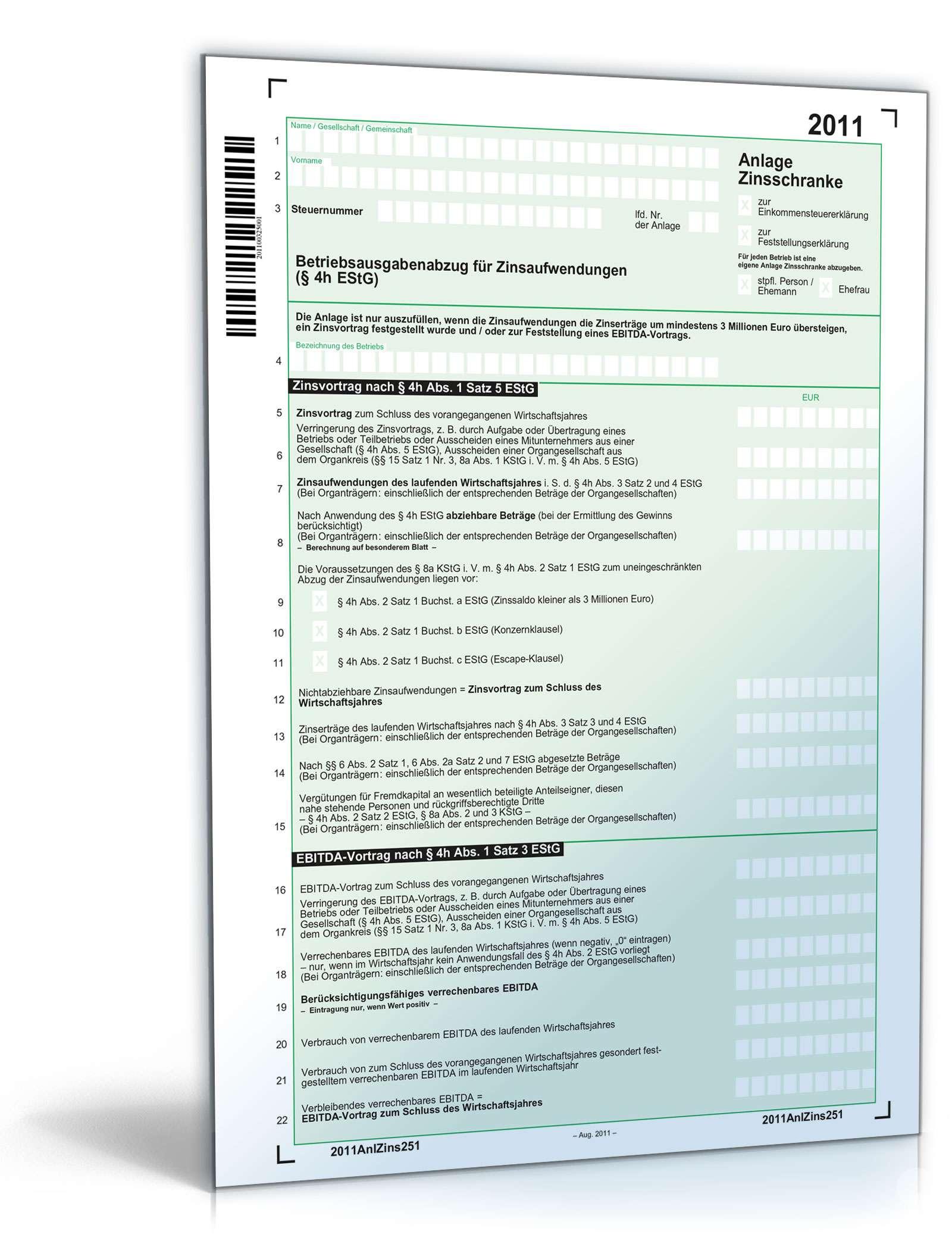 steuerformulare 2011