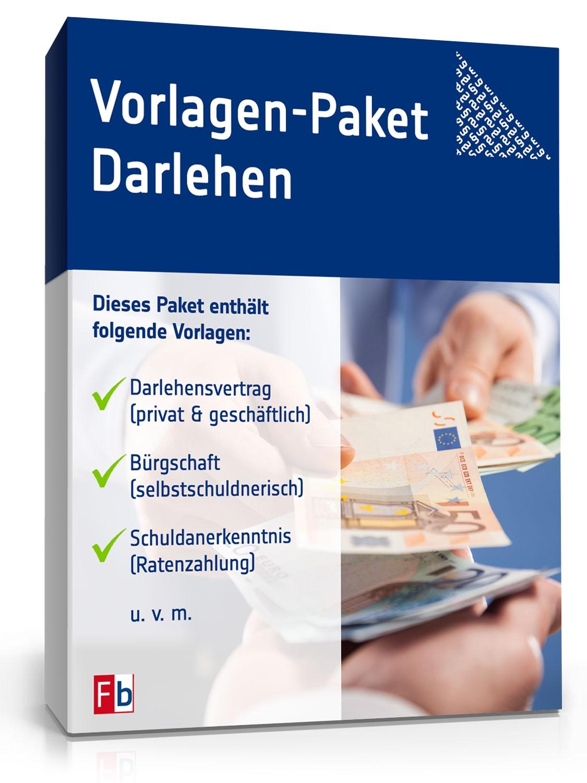 Vorlagen Paket Darlehen Vorlage Zum Download