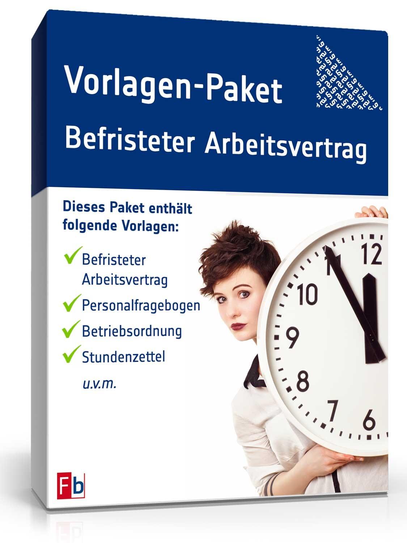 Vorlagen Paket Befristeter Arbeitsvertrag Muster Zum Download