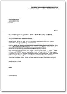 Baubehinderungsanzeige Dokument zum Download