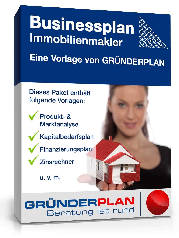 Businessplan Immobilienmakler von Gründerplan   Muster zum Download