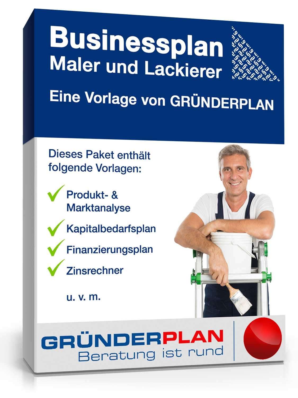 Businessplan Maler und Lackierer von Gründerplan | Muster zum Download