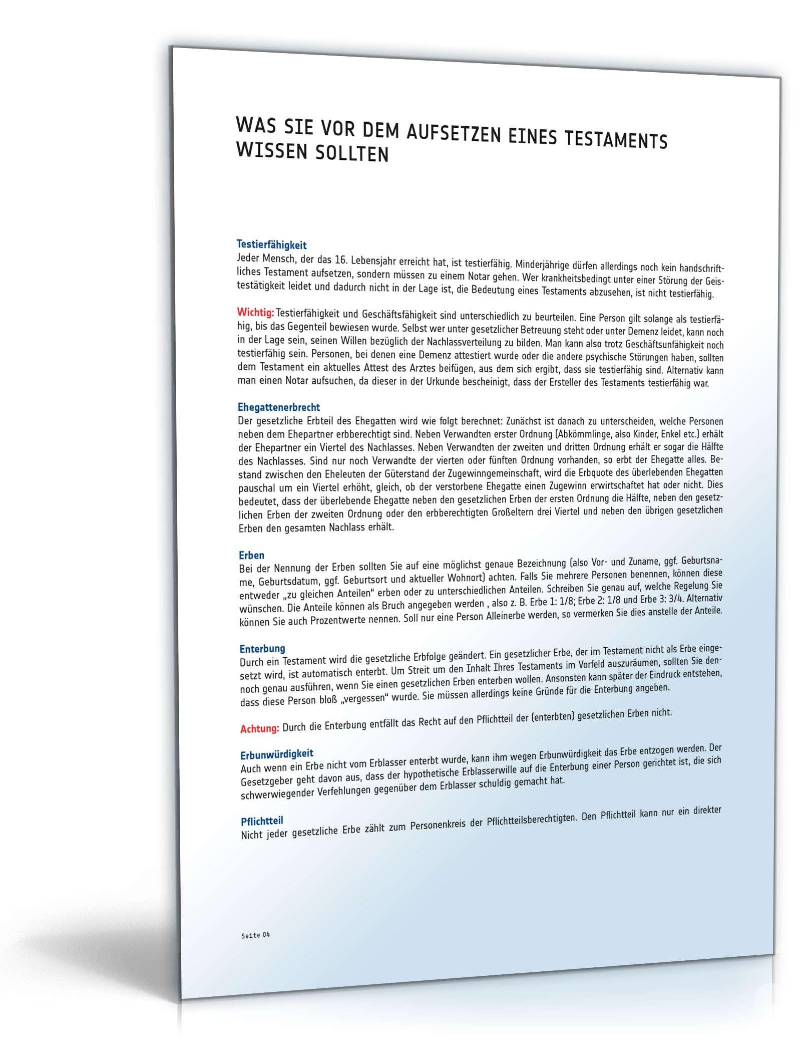 Musterbriefe Notar : Berliner testament vorlage für handschriftliches
