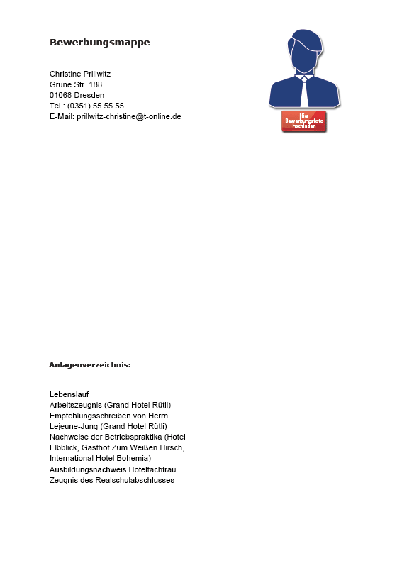 Bewerbung Hotelfachfrau Muster: Musterbewerbung zum Download