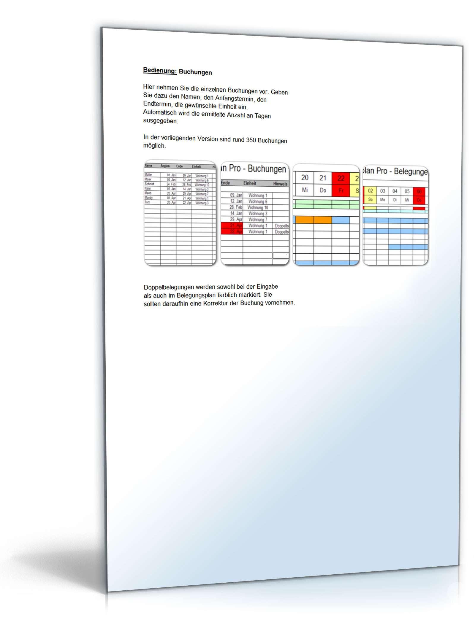 Belegungsplan Pro | Vorlage zum Download