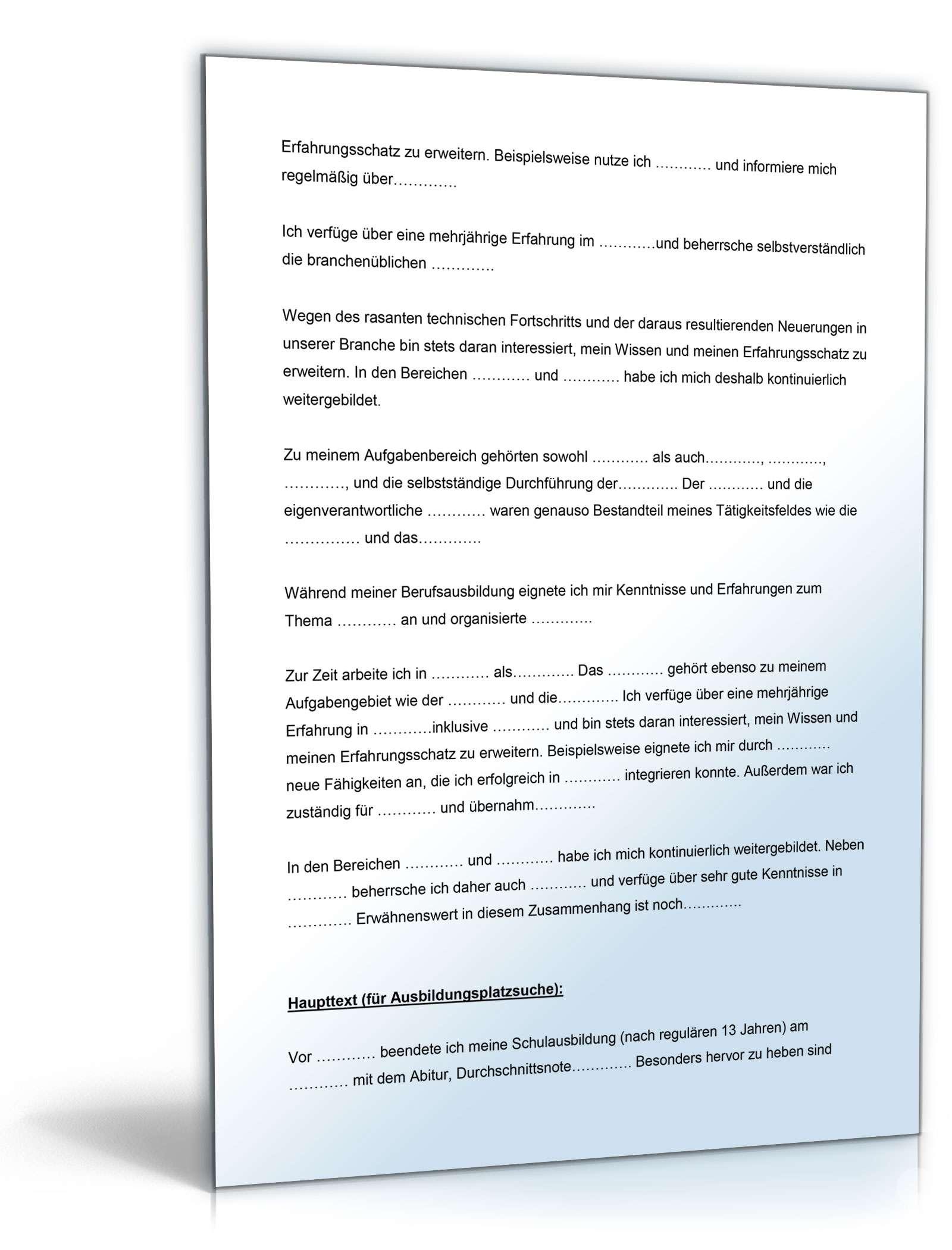 bewerbungs paket chemikant muster zum download - Bewerbung Chemikant