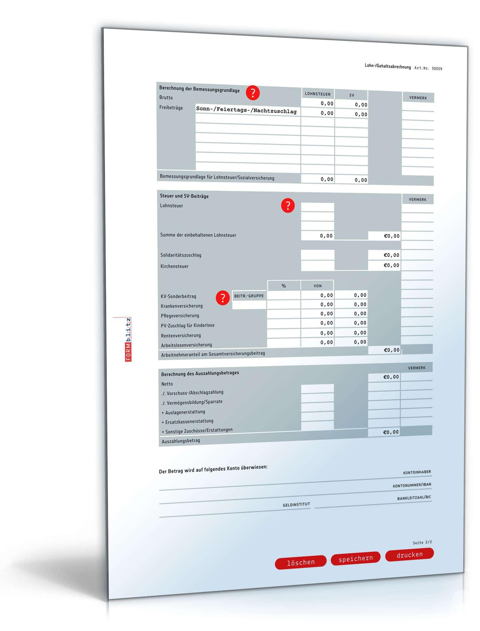 Lohnabrechnung 2015 Vorlage Zum Download