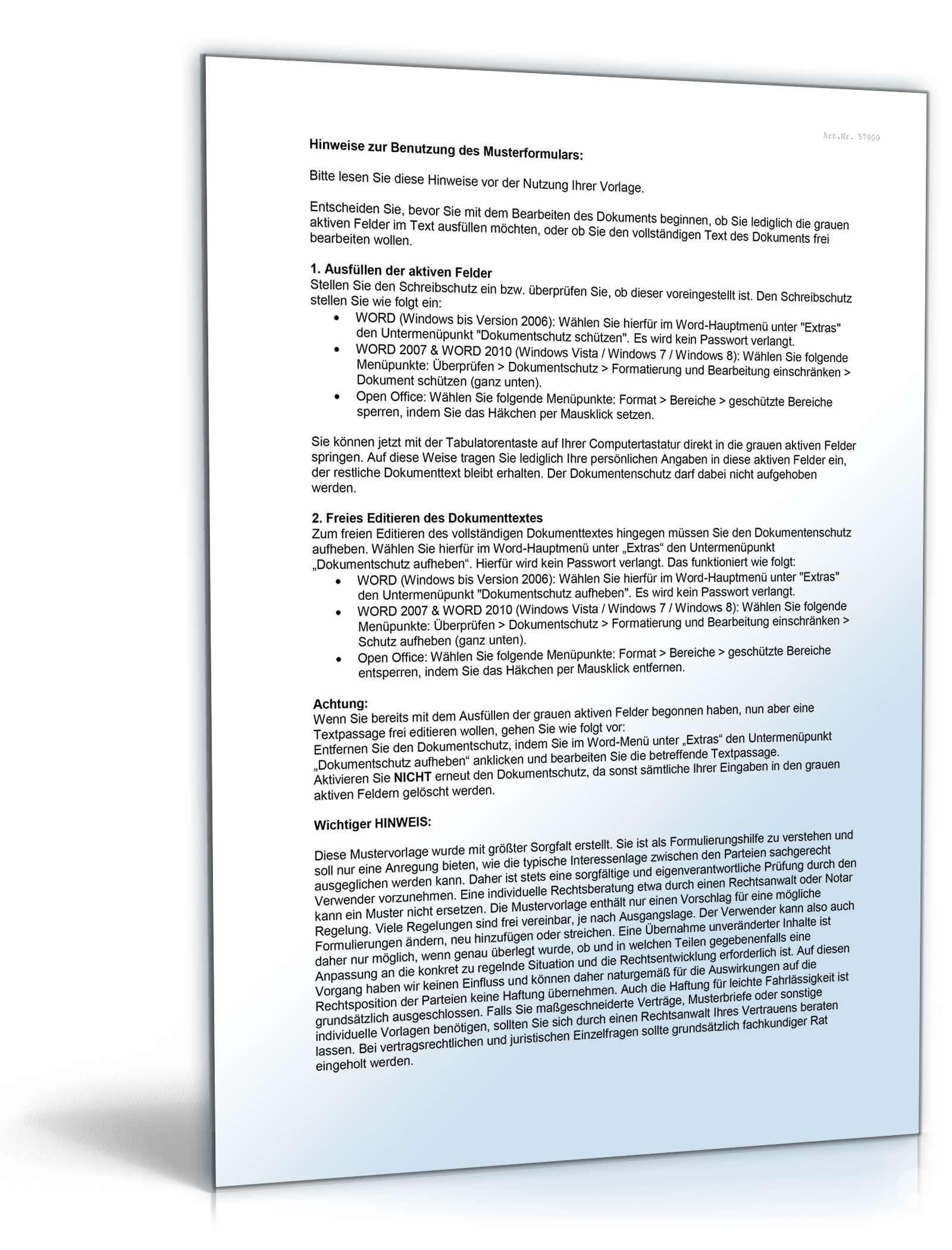 Erfreut Darlehensvertrag Formularvorlage Fotos - Entry Level Resume ...