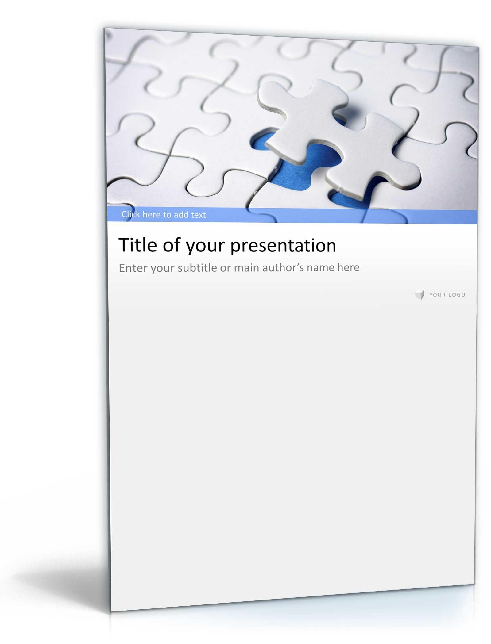 PowerPoint Vorlage Business Präsentation Puzzle Design