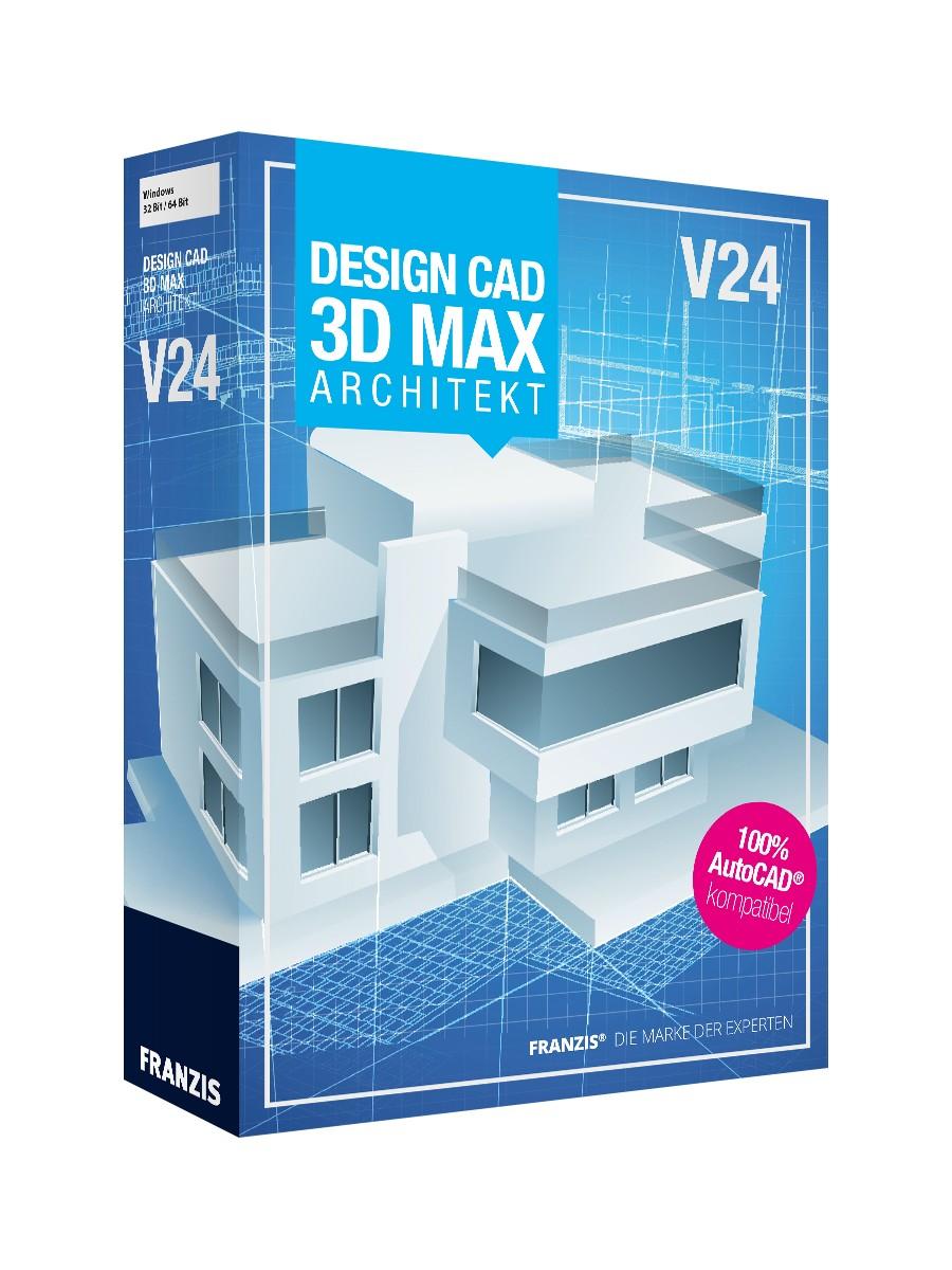 franzis designcad 3d max v24 architekt g nstig zum download. Black Bedroom Furniture Sets. Home Design Ideas