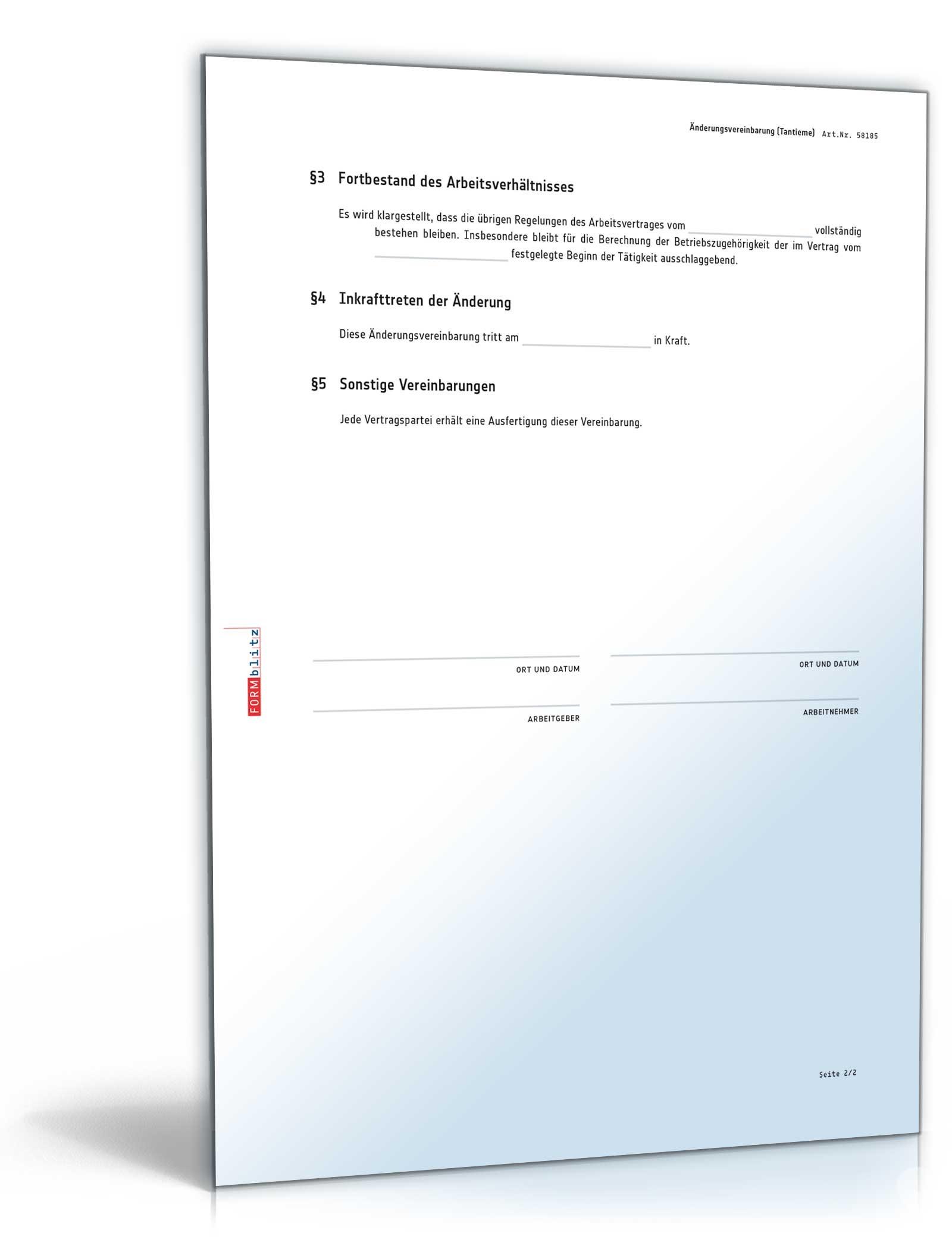 nderungsvereinbarung nderung zu - Arbeitgeberbescheinigung Muster