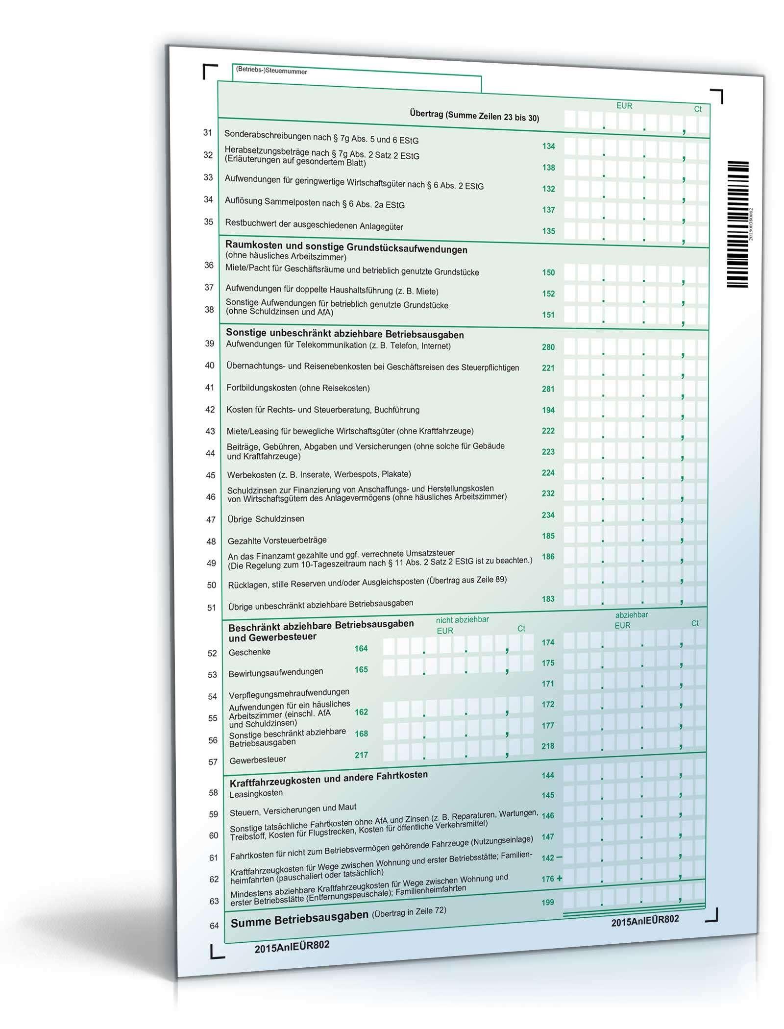 Anlage eür 2020 pdf