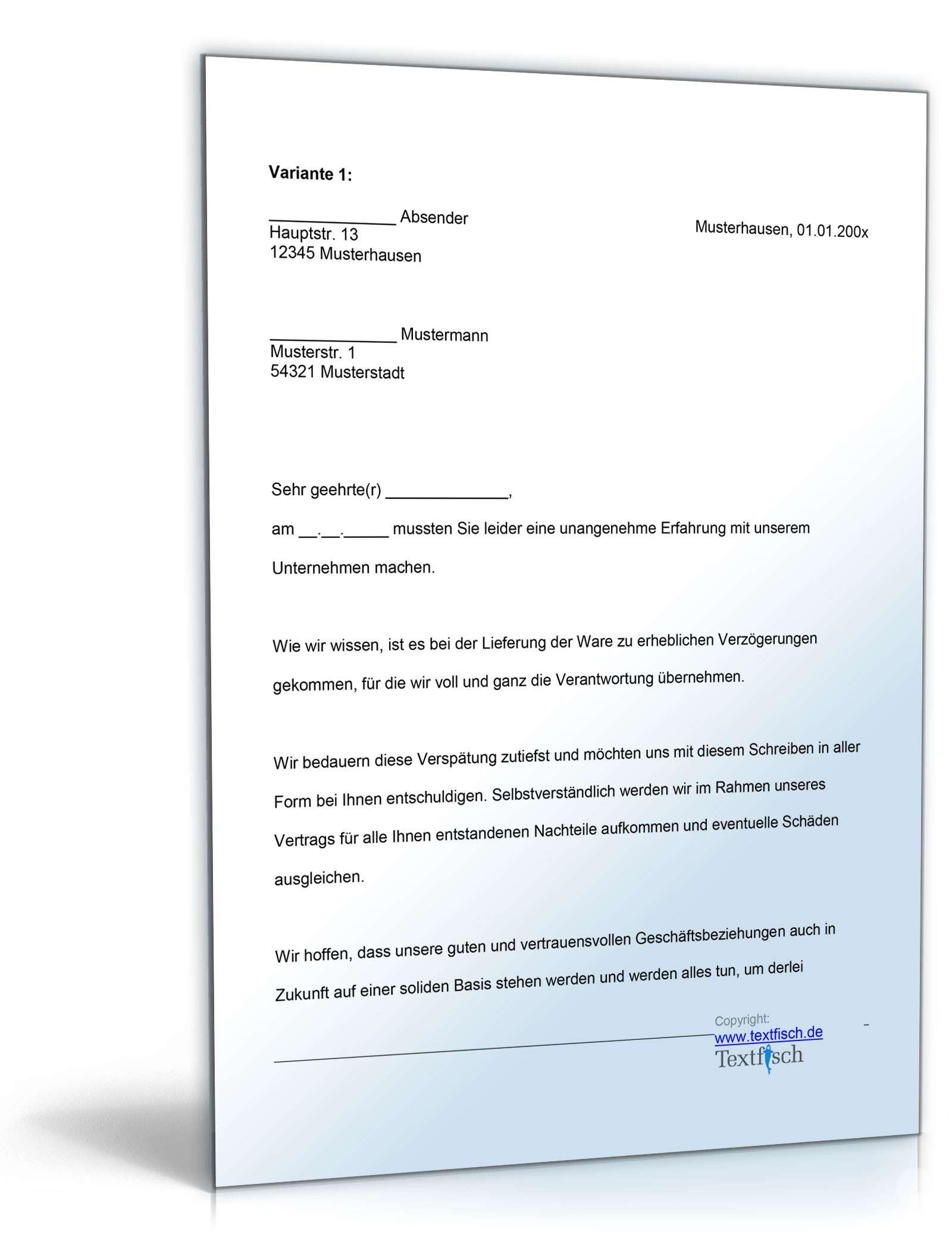 Musterbriefe Entschuldigungsschreiben Geschäftlich : Kaufen verkaufen musterbriefe dokumente vorlagen